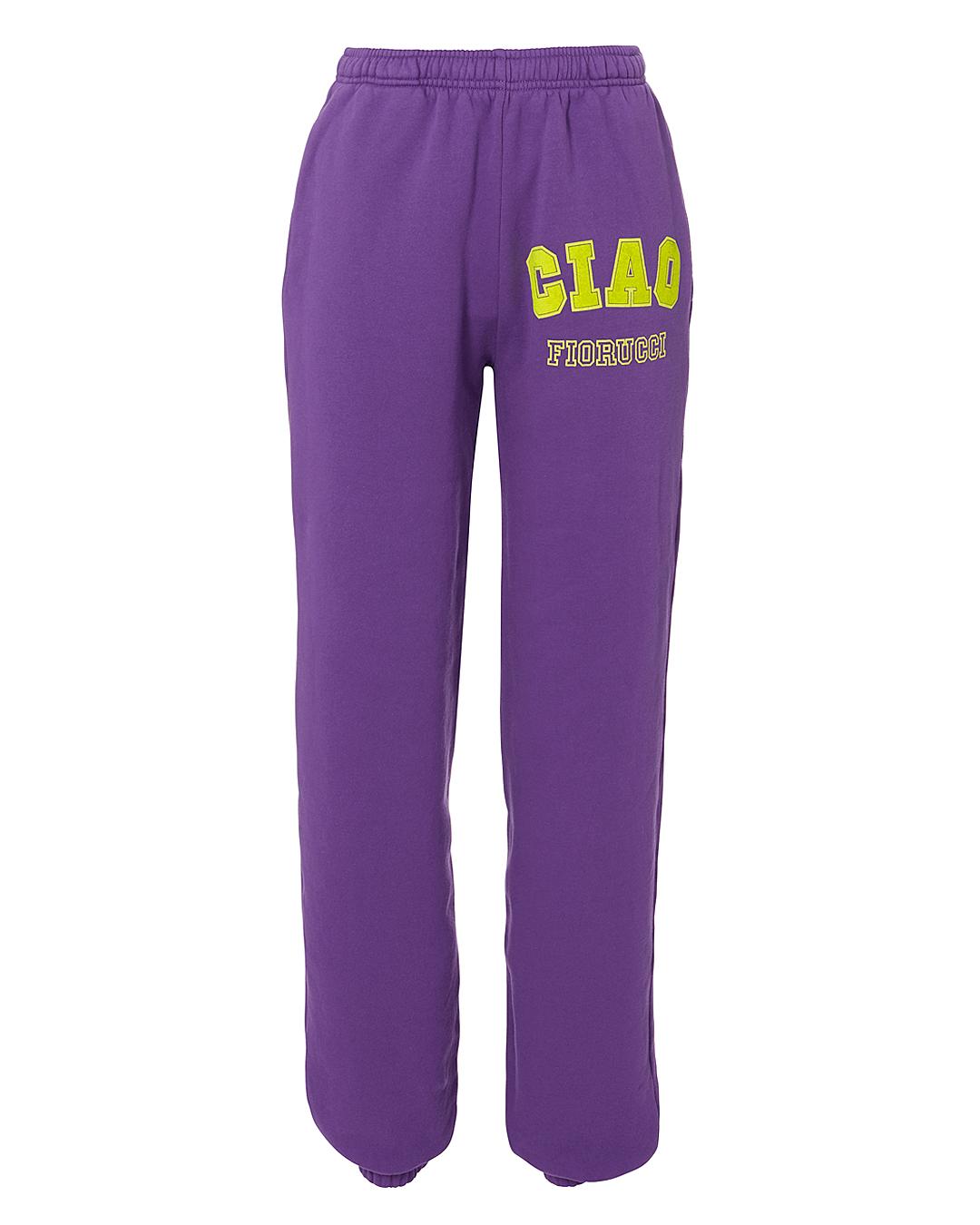 FIORUCCI Logo Print Track Pants in Purple
