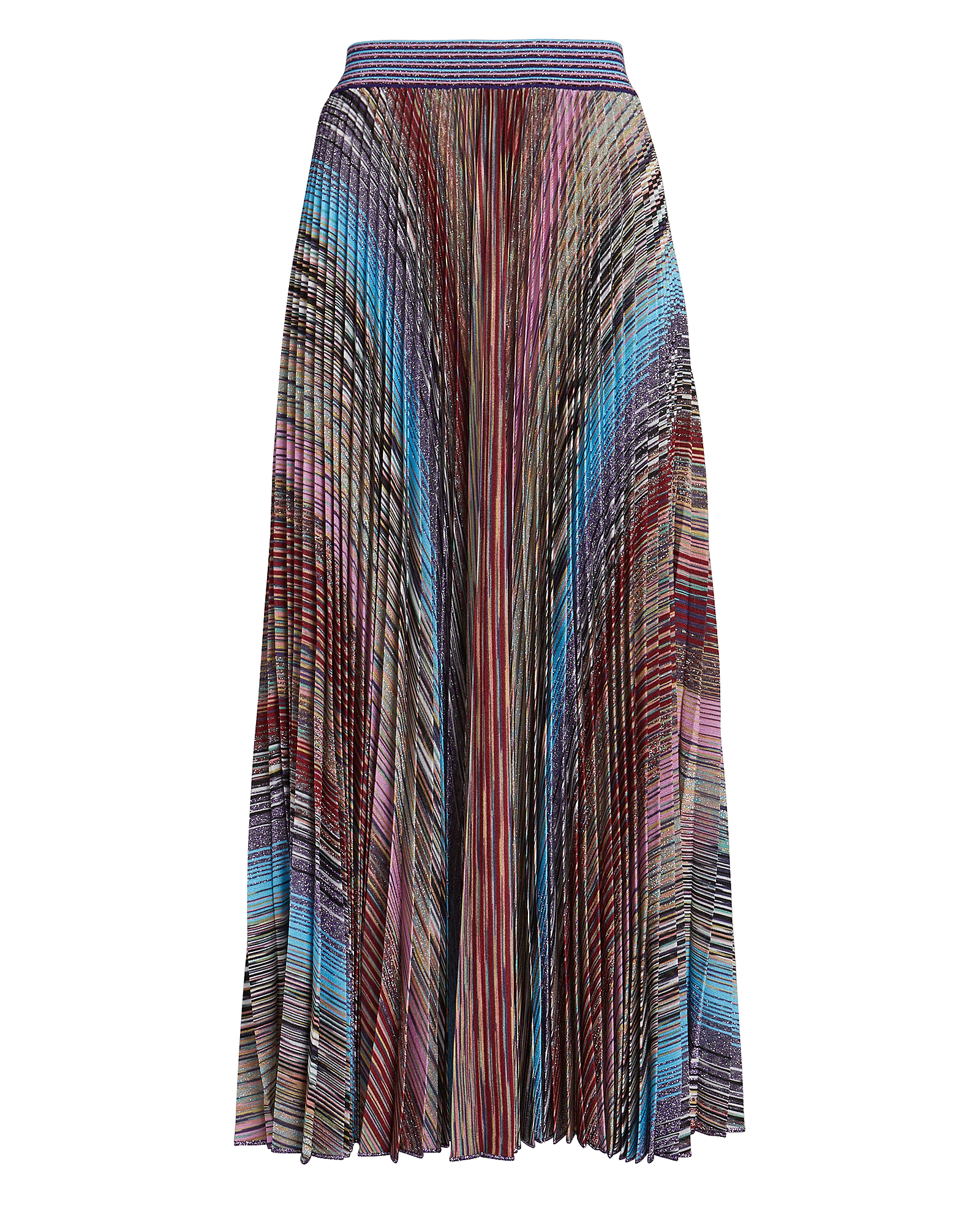 MISSONI Pleated Knit Jacquard Midi Skirt