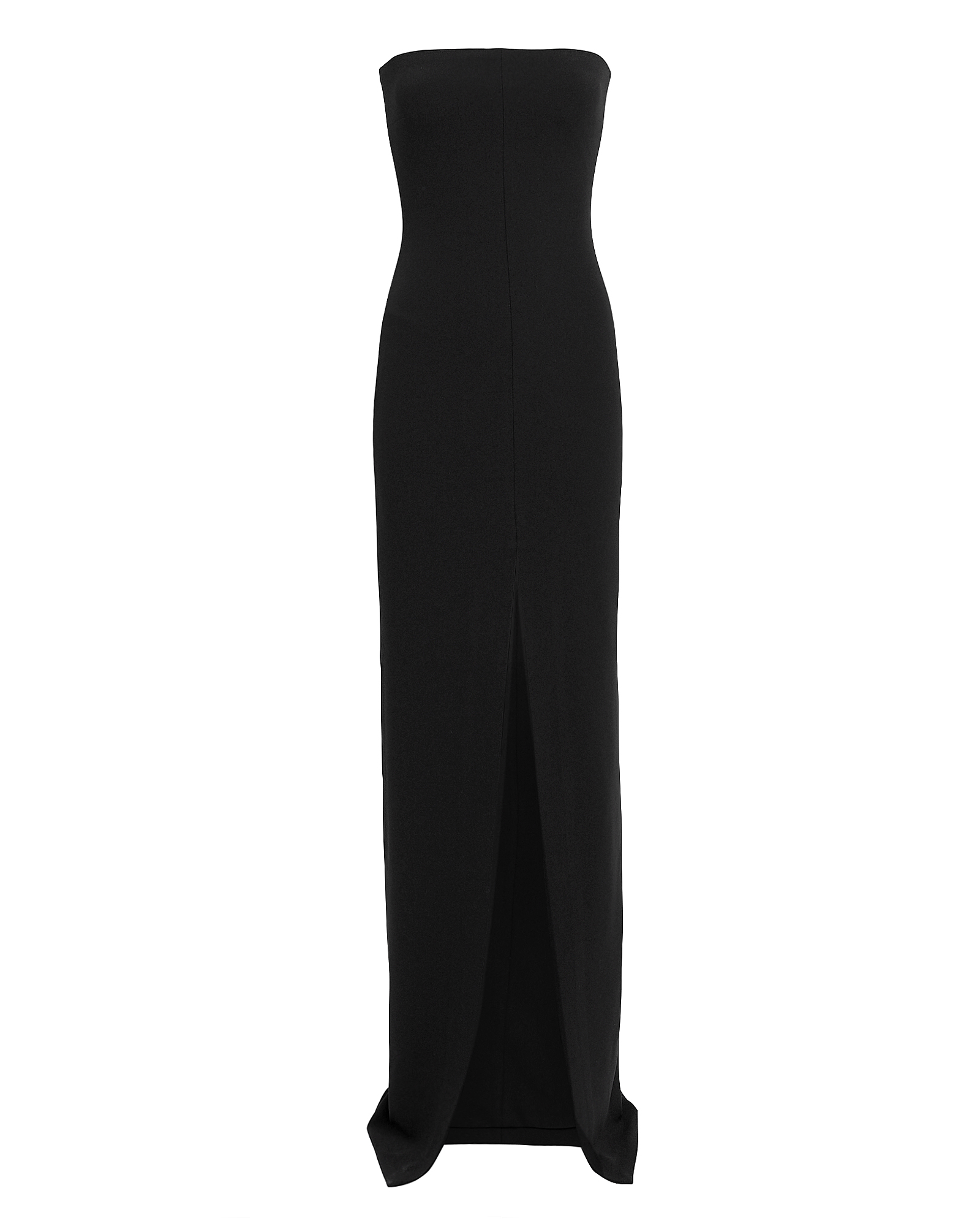 SOLACE London Bysha Black Strapless Gown Black
