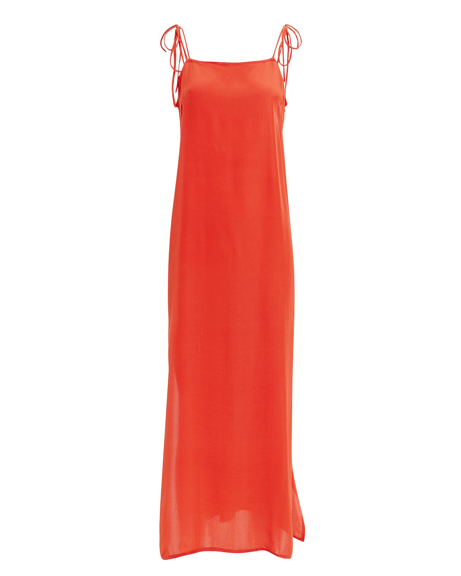 MIKOH SWIM Mikoh Okayama Maxi Dress Red Orange