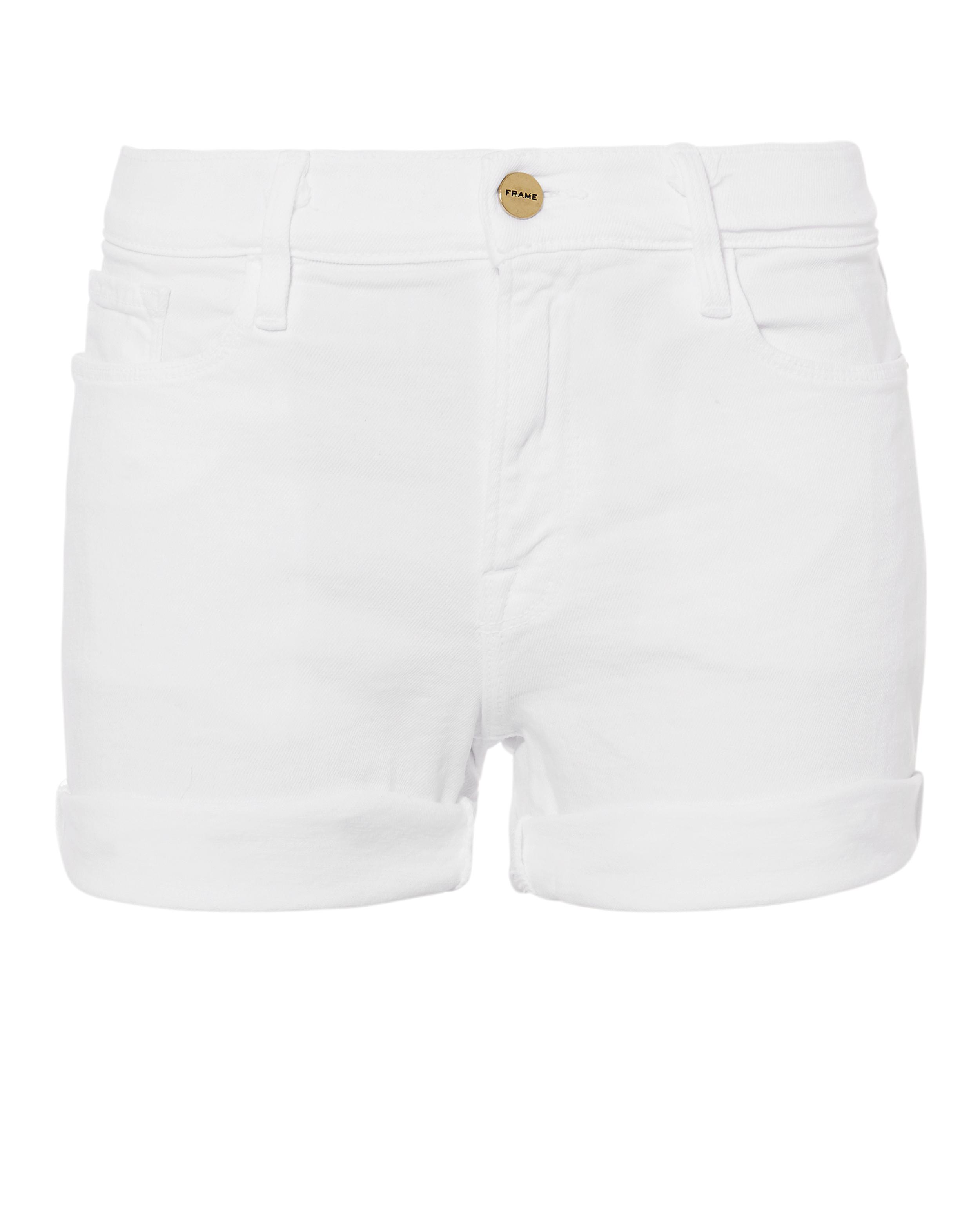 Le Cutoff Denim Shorts in White