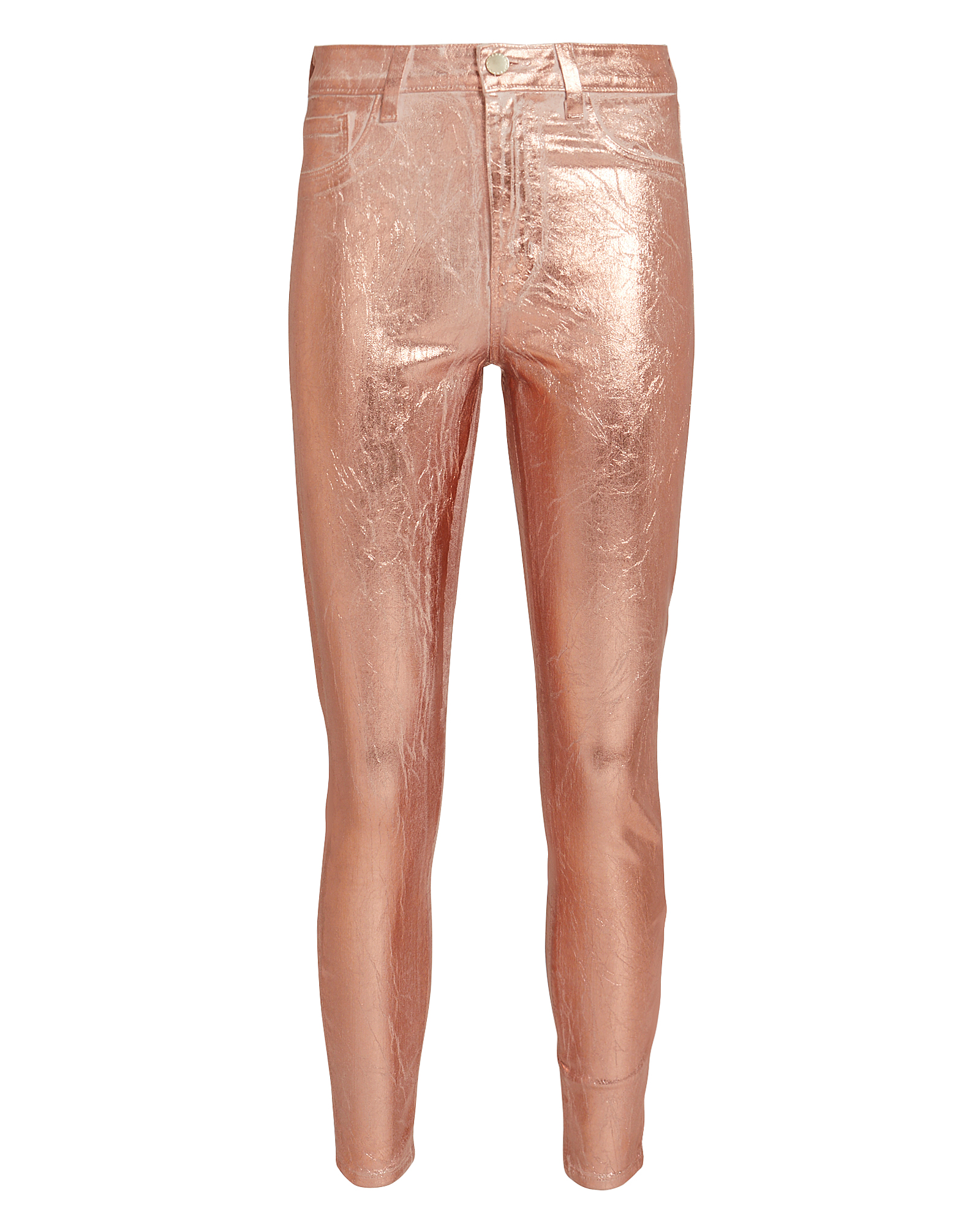 L'agence Coats L'AGENCE MARGOT COATED JEANS  ROSE GOLD 25