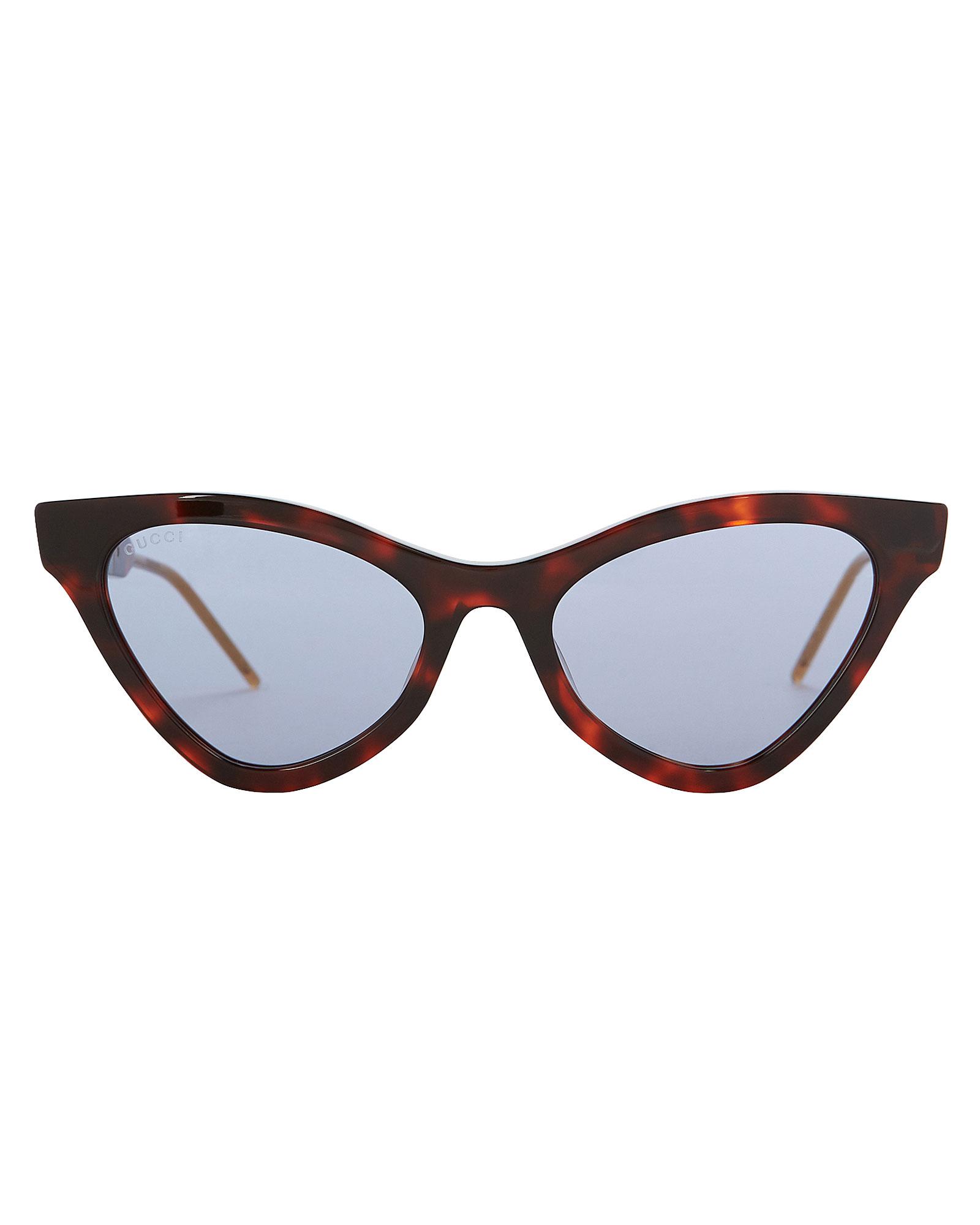 Gucci Havana Cat Eye Sunglasses In Tortoiseshell