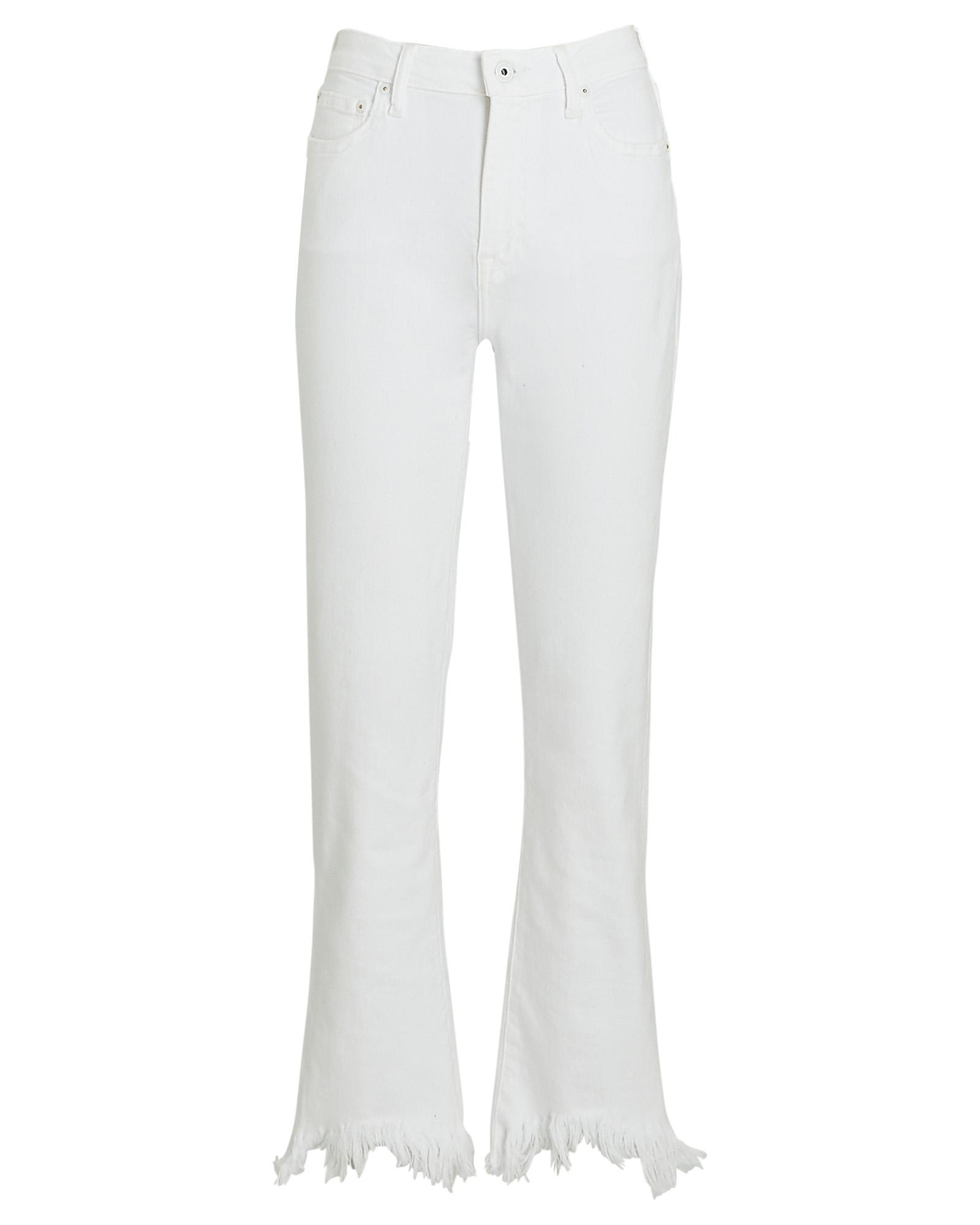 Jonathan Simkhai Standard River Frayed High-Rise Jeans