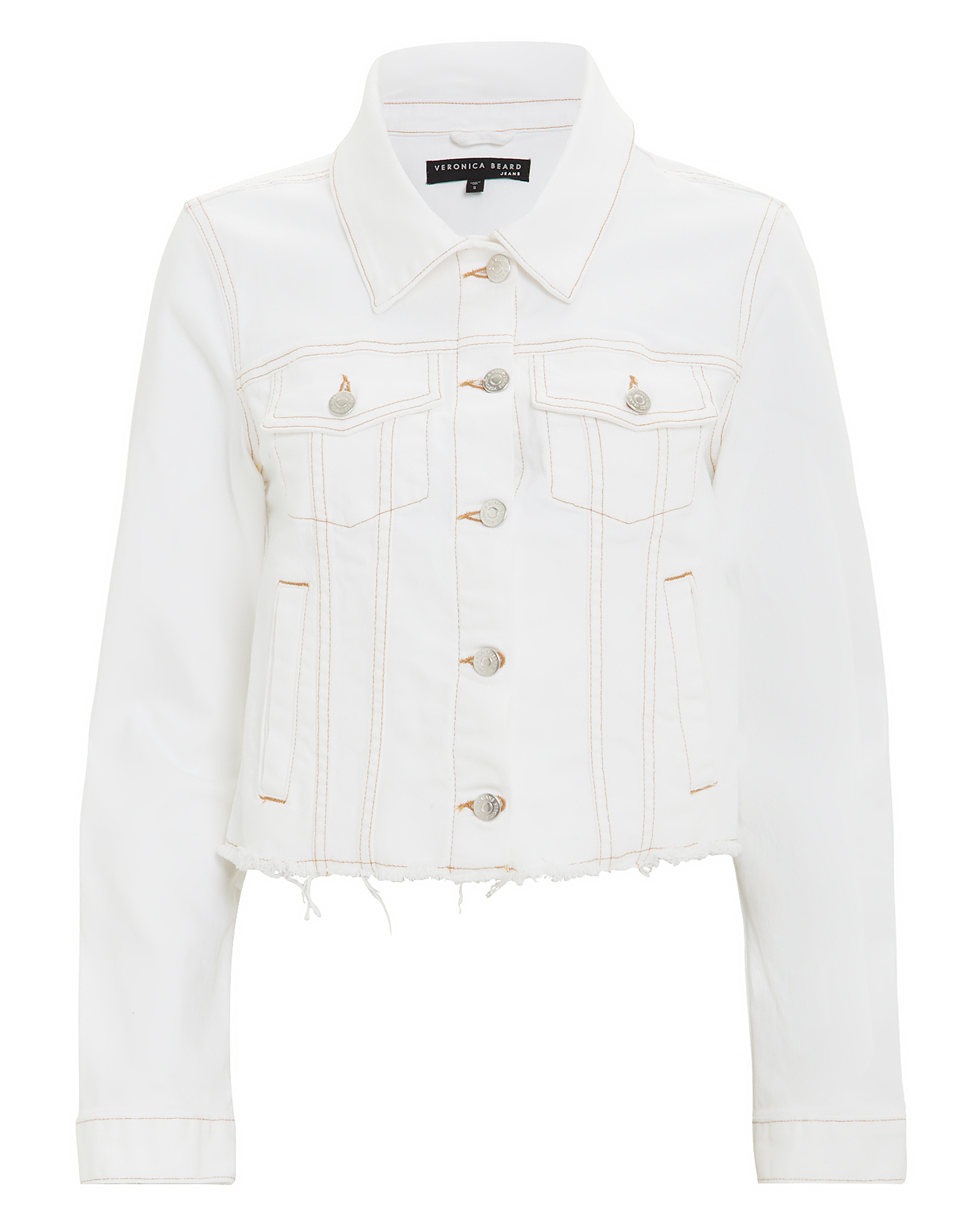 Cara White Denim Jacket by Veronica Beard