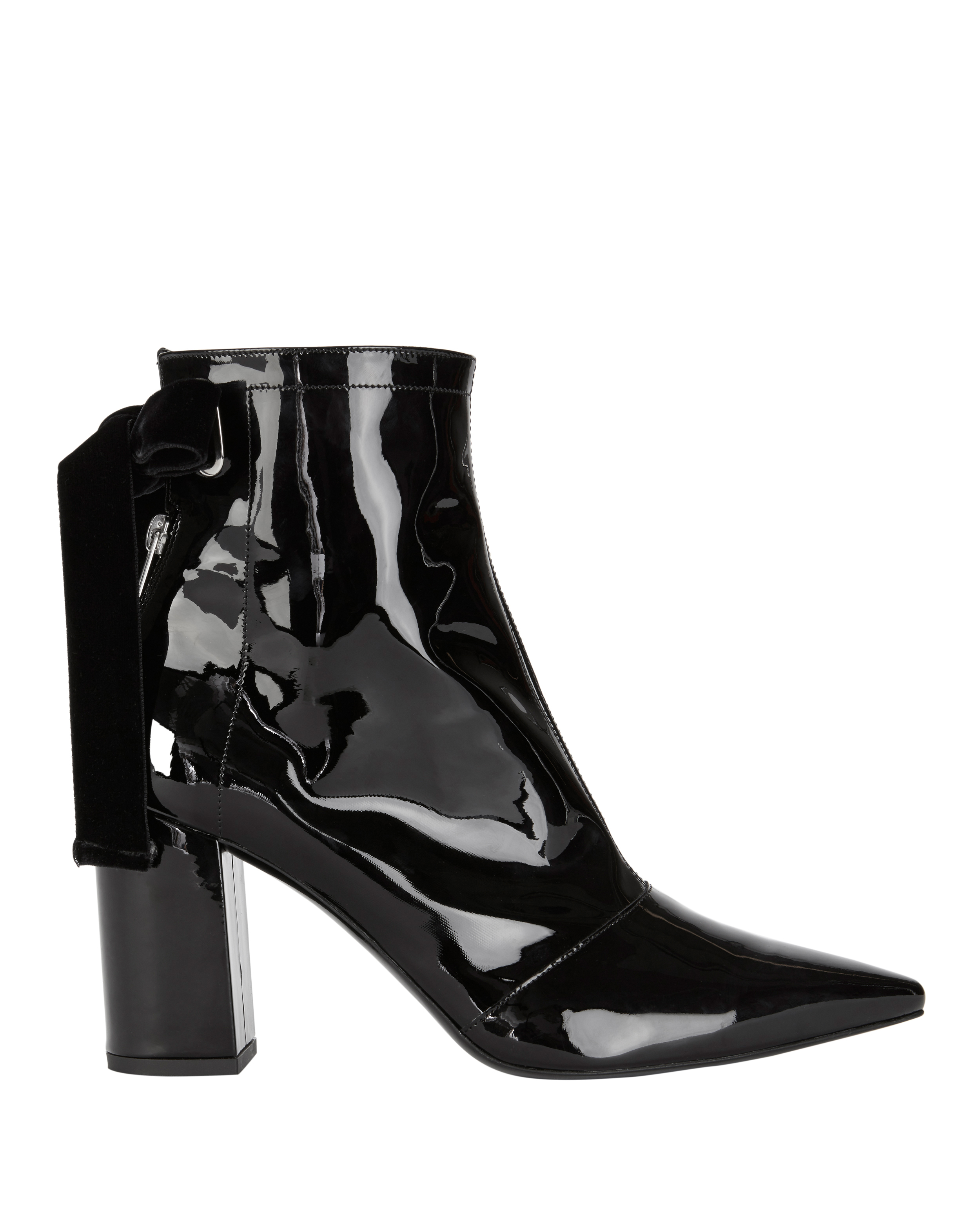 Robert Clergerie X Self Portrait Karli Patent Lace Up Booties by Robert Clergerie