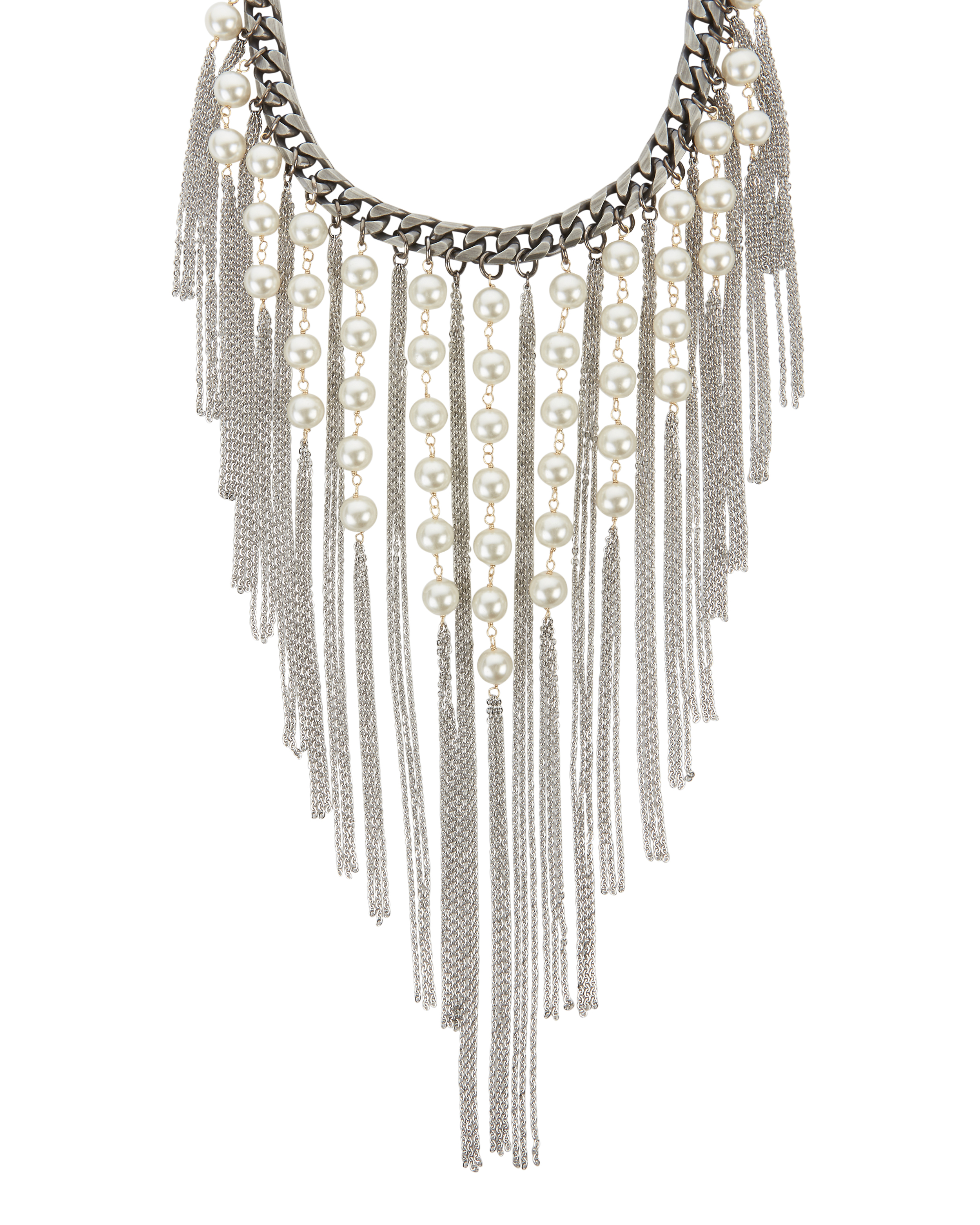 Laura Cantu Pearl Fringe Necklace Intermix 174
