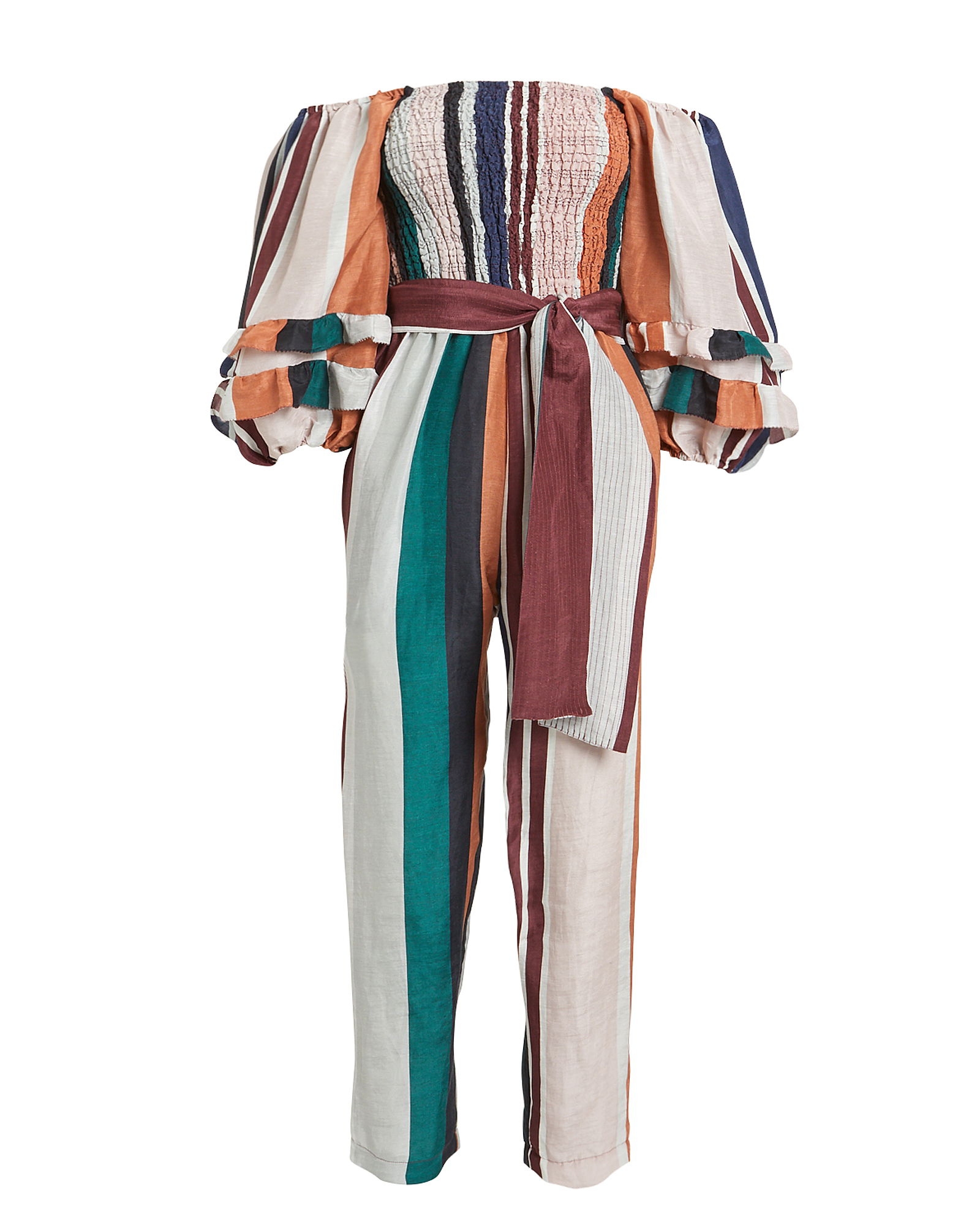 Apiece Apart Lagunitas Smocked Off Shoulder Jumpsuit