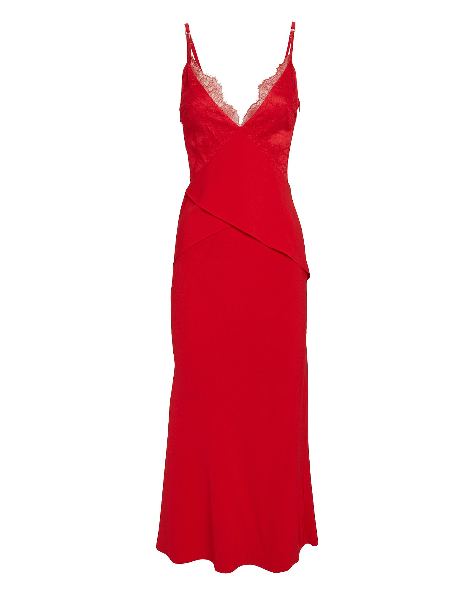 Dion Lee Dresses Stencil Lace Red Dress