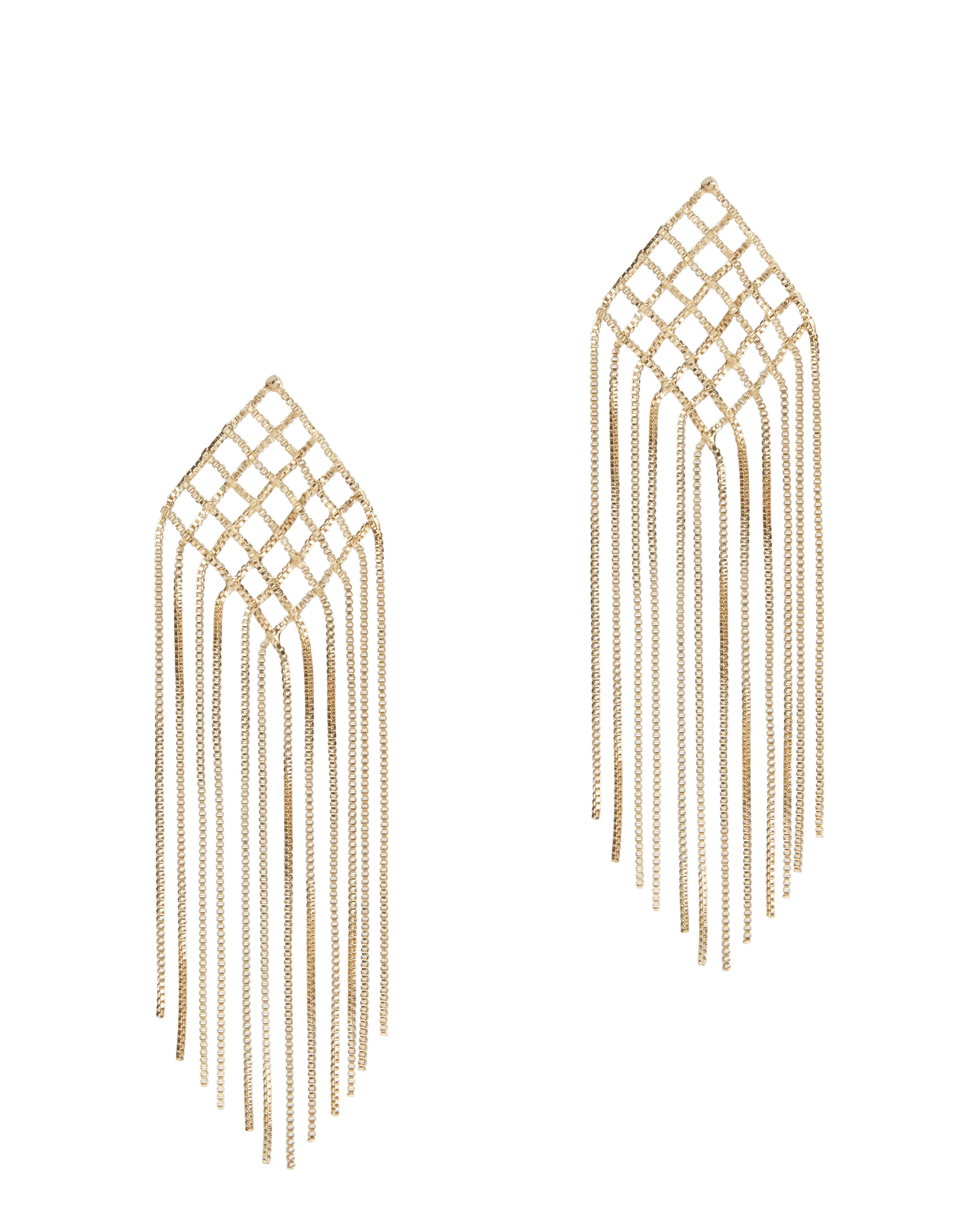with plated products daria fringe chain gold crystals jules smith drop earrings
