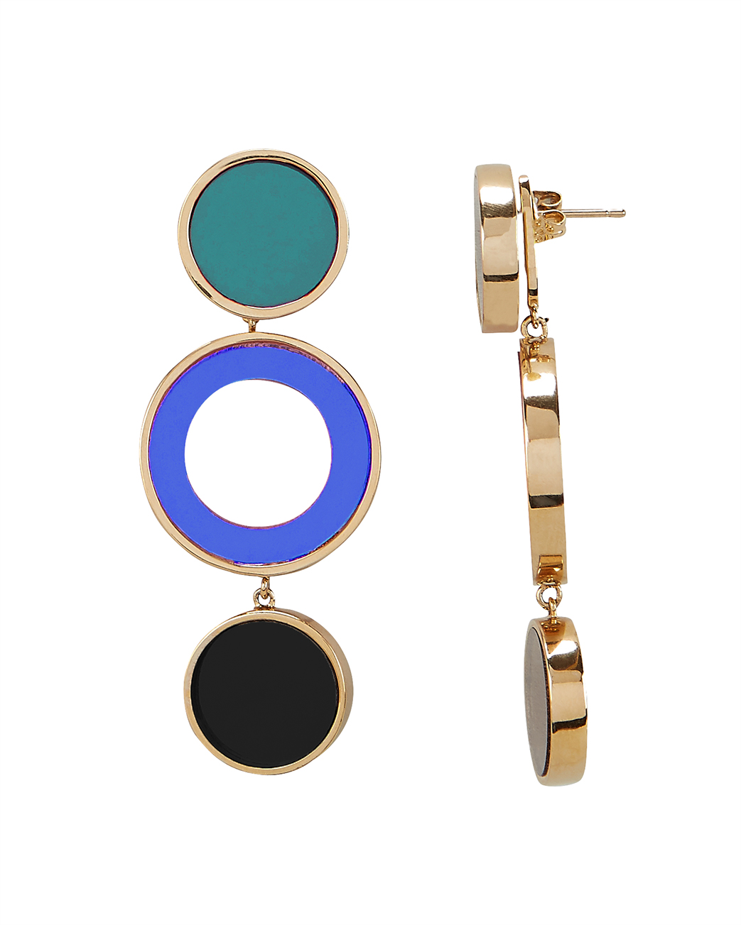 COLETTE MALOUF Reflection Blue Earrings