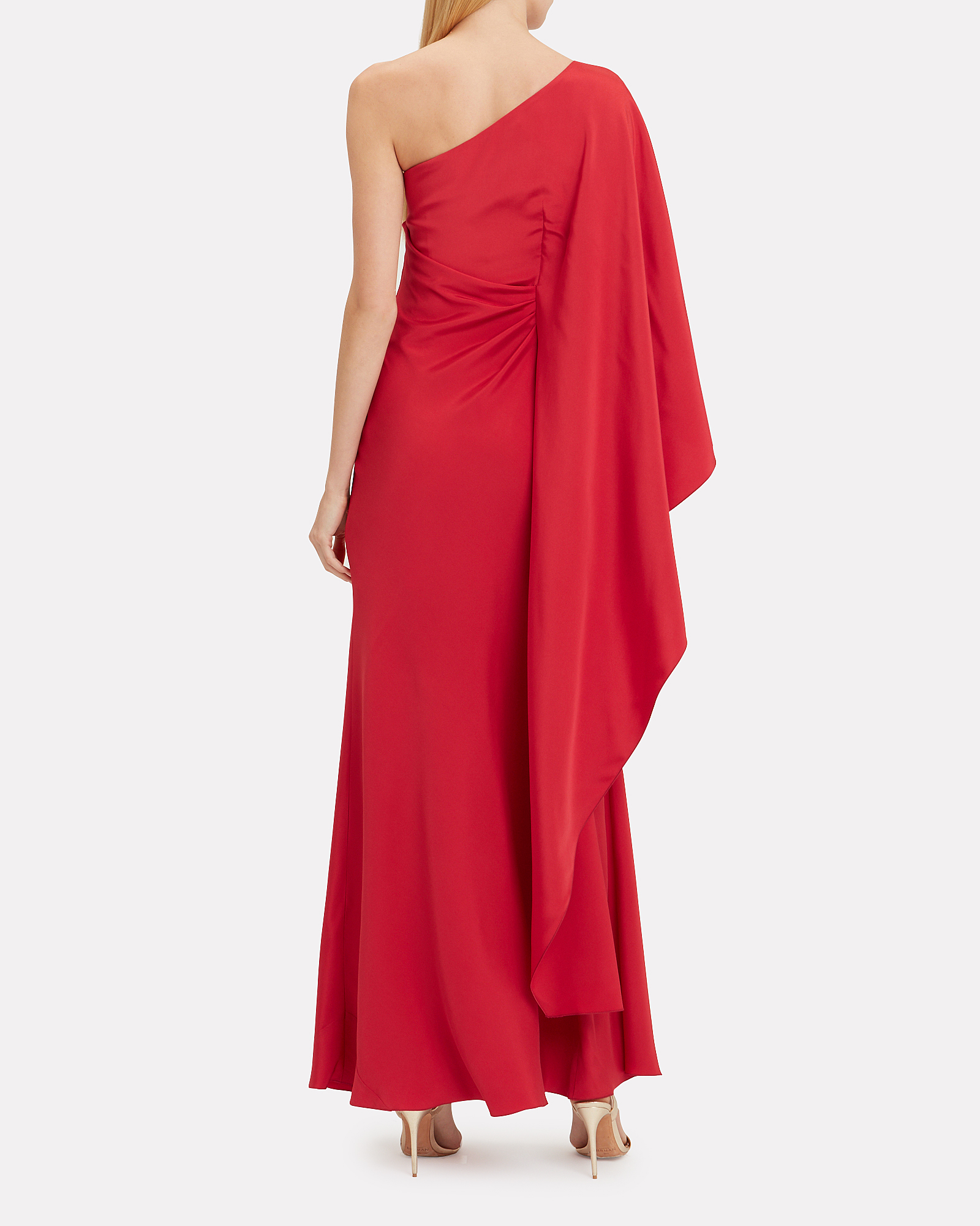 eba129d28bb ... One Shoulder Red Gown, RED, hi-res ...
