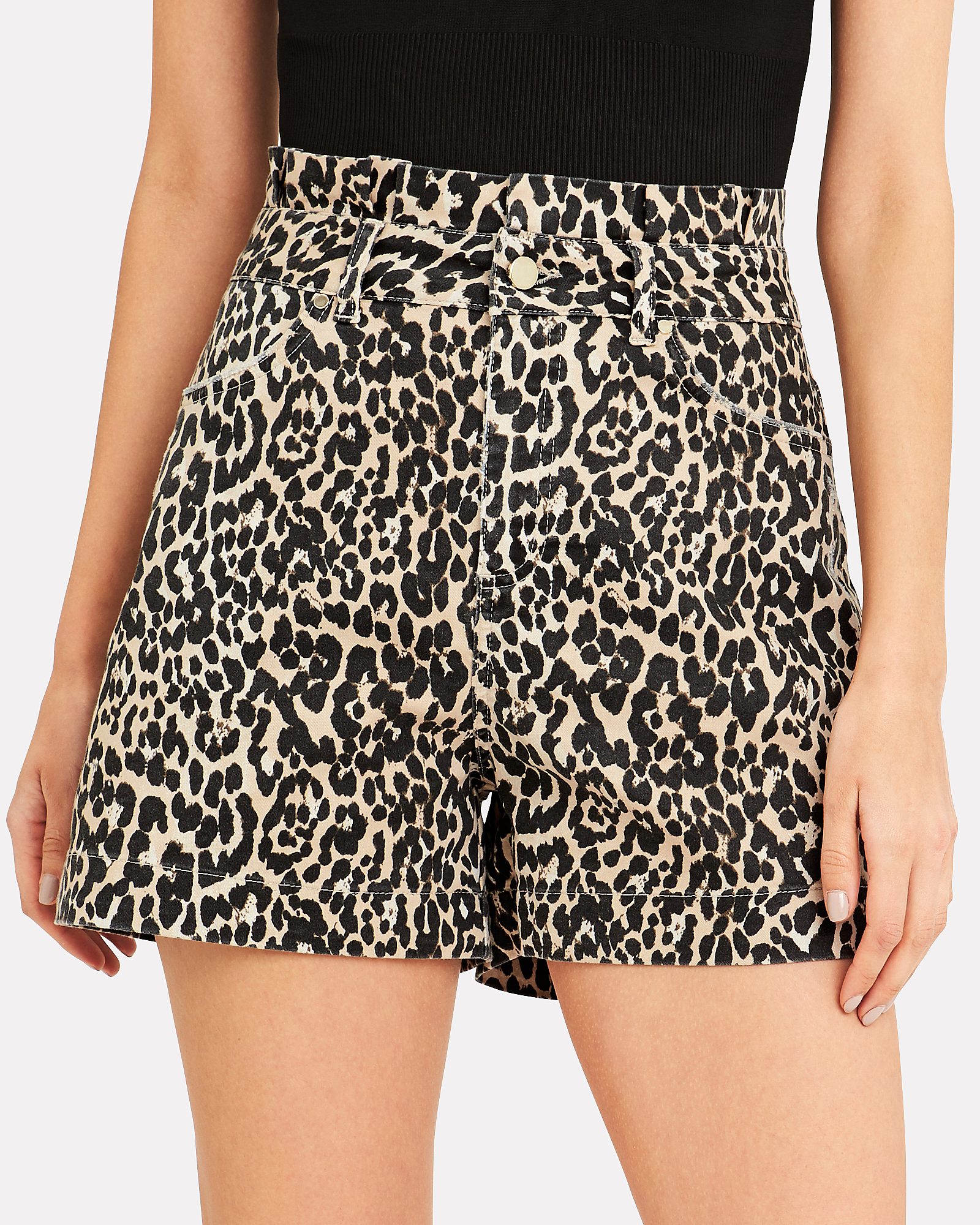 458ad64af30c ... Kayla Leopard Shorts, BROWN, hi-res ...