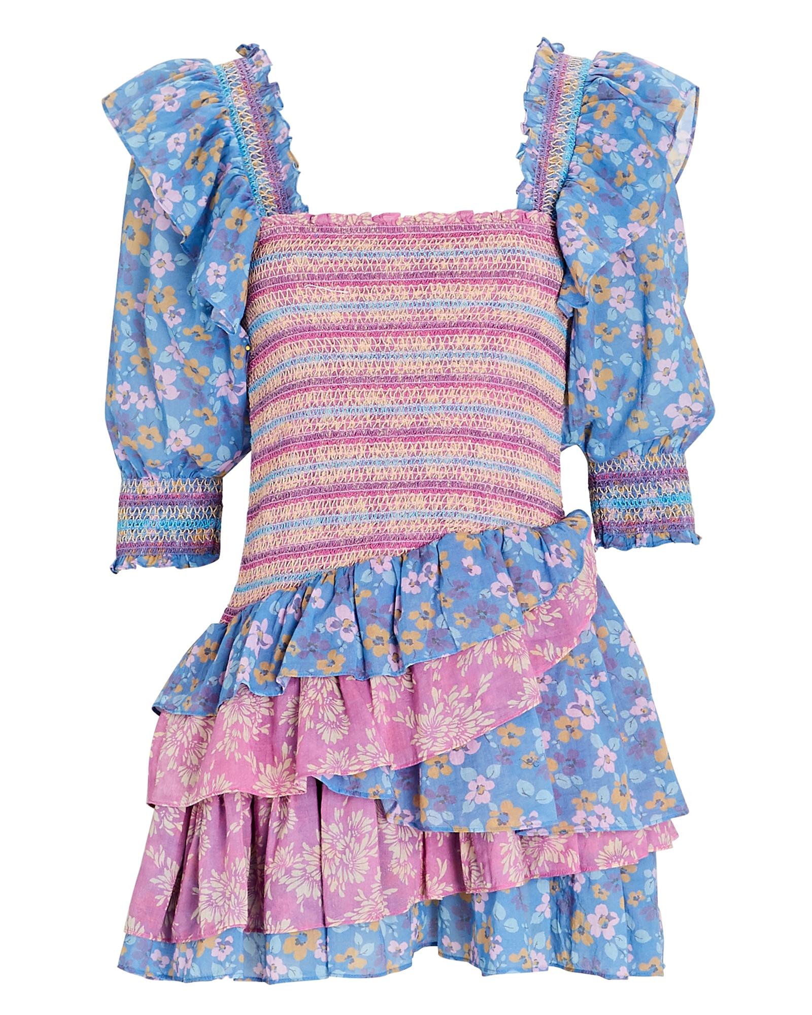 Loveshackfancy Cottons LOVESHACKFANCY GOLDEN COTTON FLORAL MINI DRESS