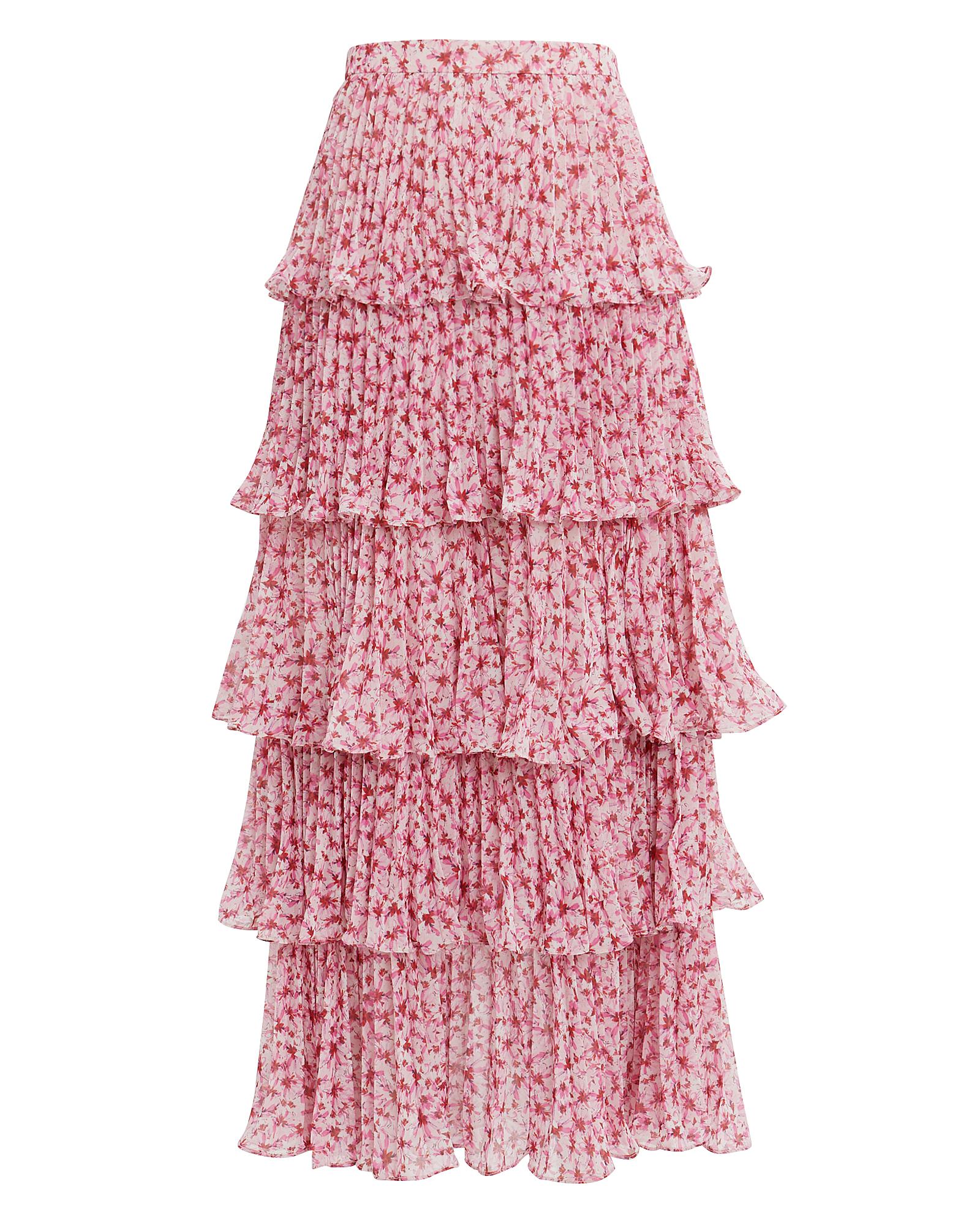 Amur Tiered Ruffle Midi Skirt