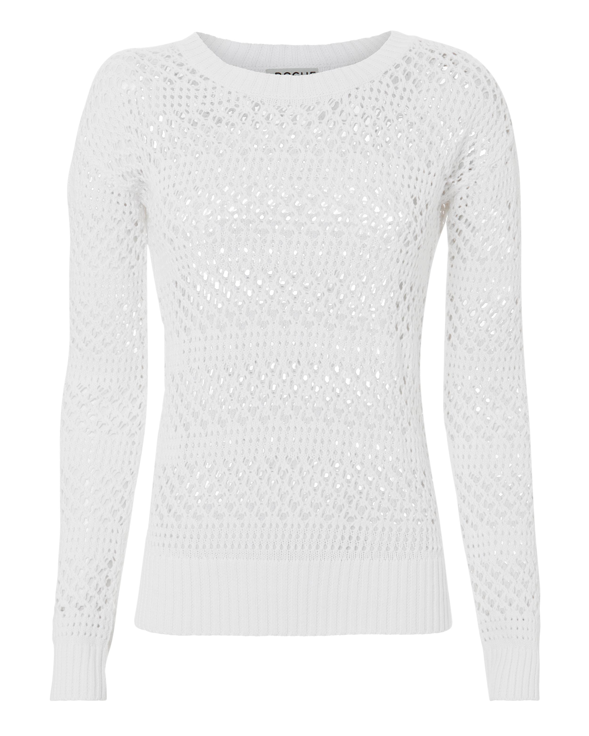 ST. ROCHE Natalia Open Knit White Sweater