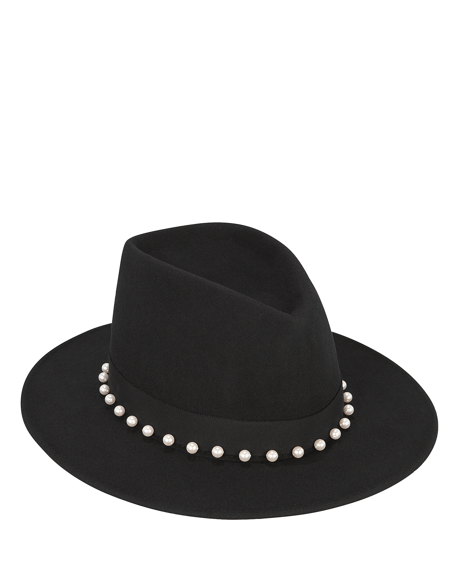 Blaine Embellished Fedora in Black