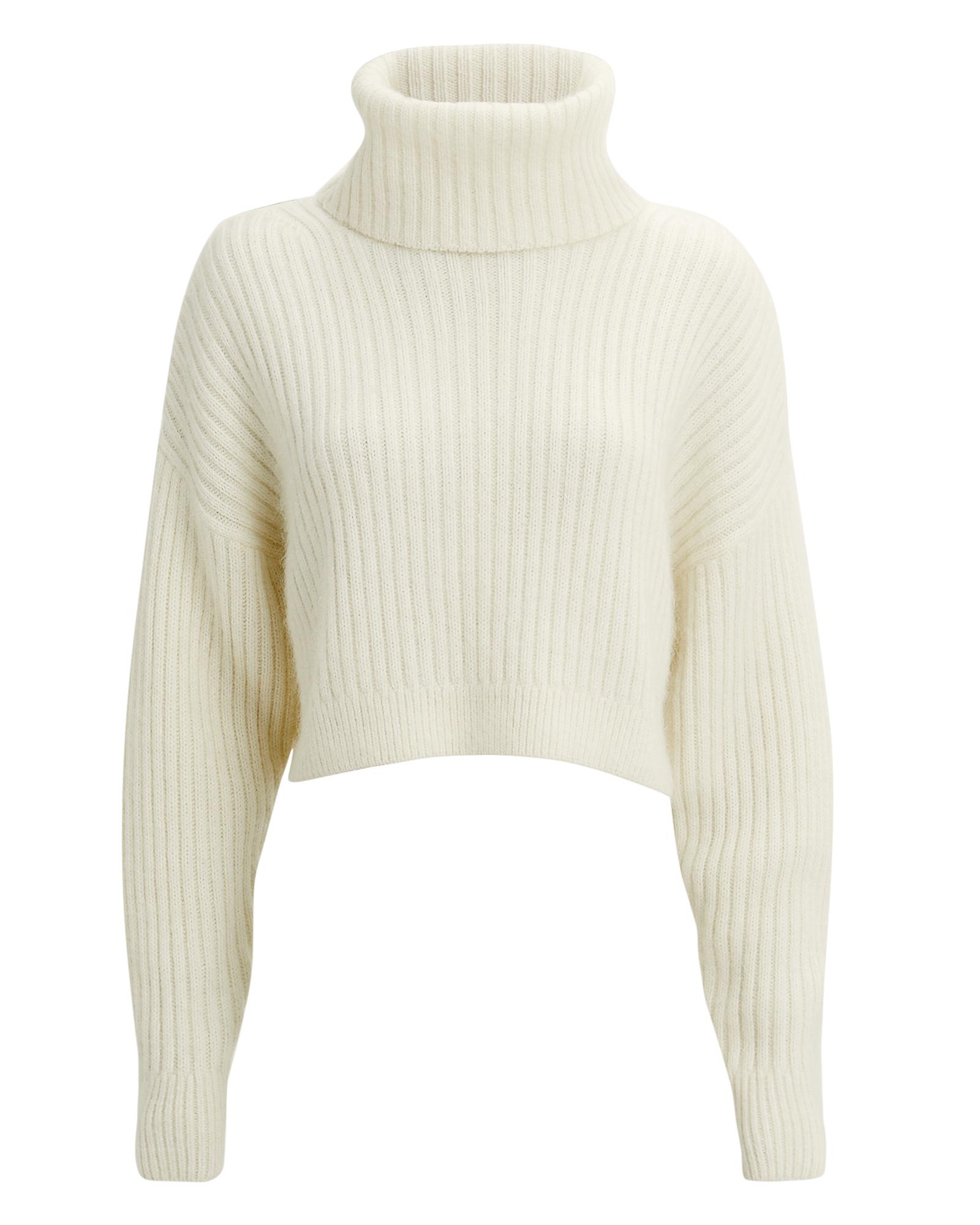 PHILLIP LIM Oversized White Mohair Turtleneck