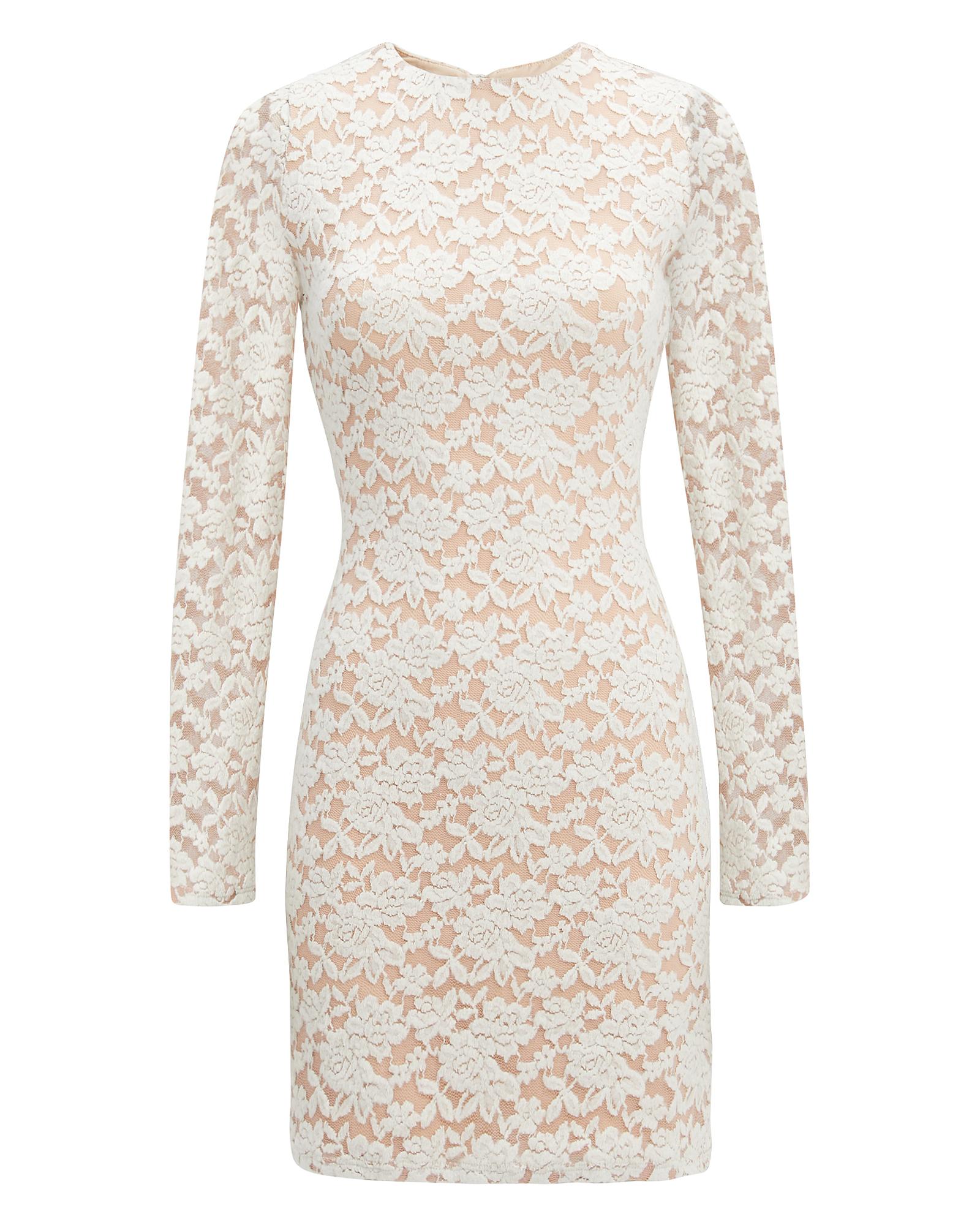 NIGHTCAP CLOTHING Ivory Sweater Lace Dress