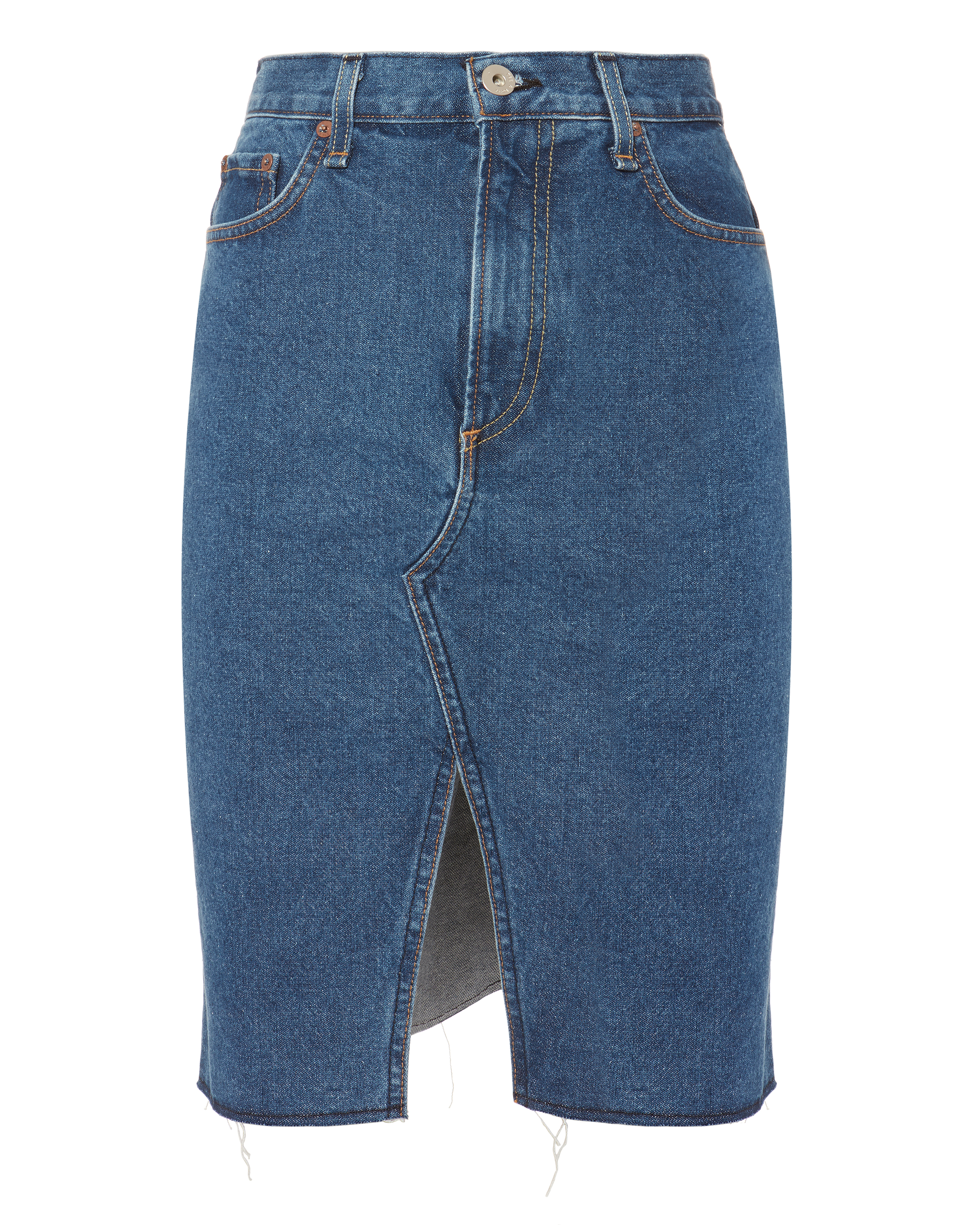 a702c6a87e8b Rag   Bone Suji Front Split Denim Skirt In Blue