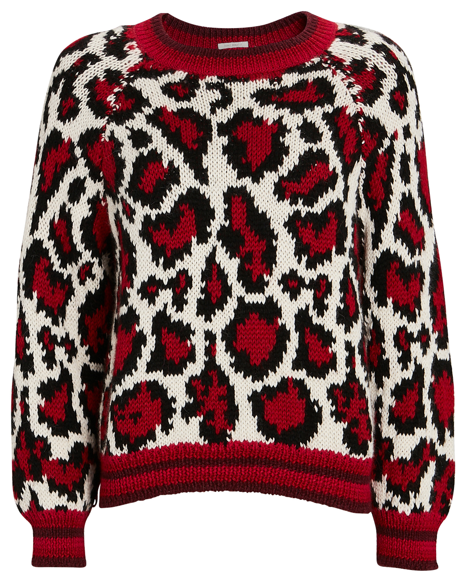 Mother MOTHER THE BOAT SQUARE LEOPARD SWEATER