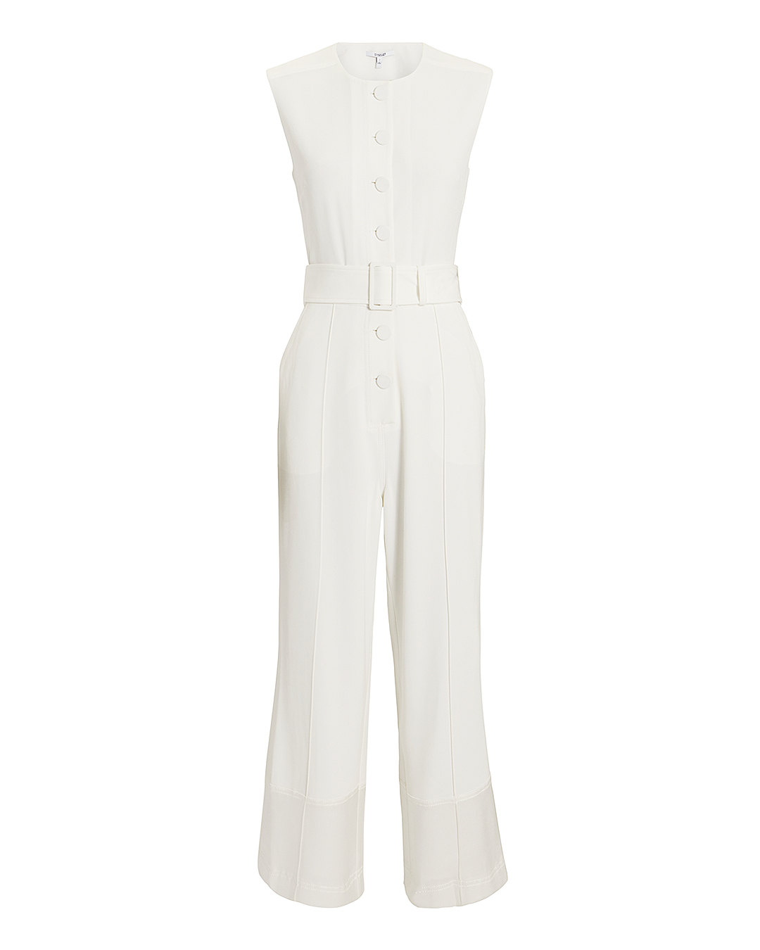 Derek Lam 10 Crosby White Crepe Jumpsuit White 4