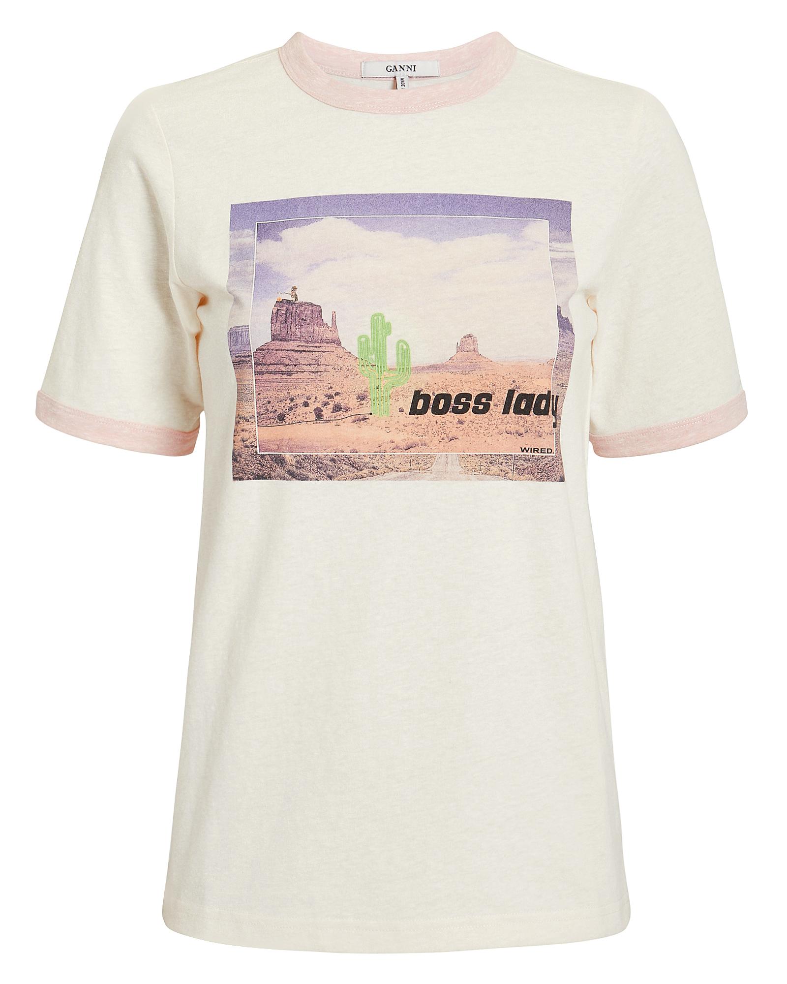 Slub Jersey Cactus T-Shirt in White