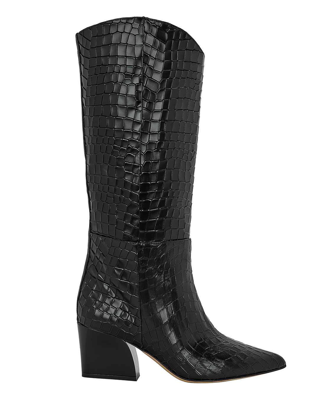 LOGAN EMBOSSED BOOTS BLACK