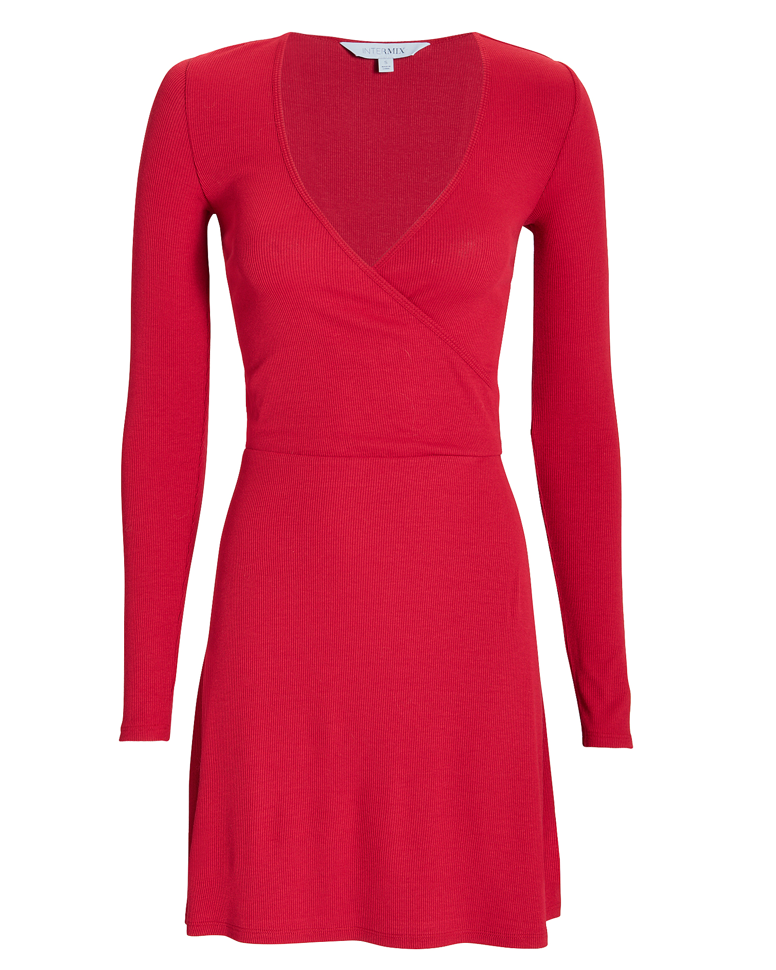EXCLUSIVE FOR INTERMIX Serena Wrap Front Knit Mini Dress