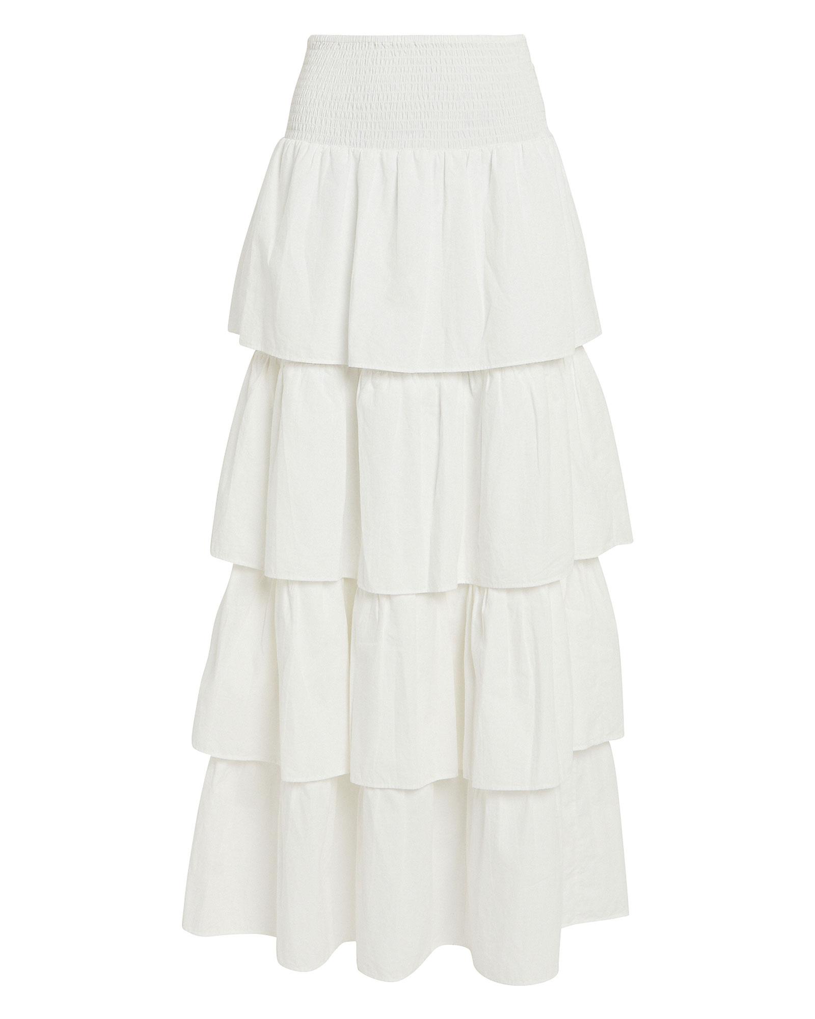 Weworewhat Skirts WEWOREWHAT PALOMA COTTON MAXI SKIRT