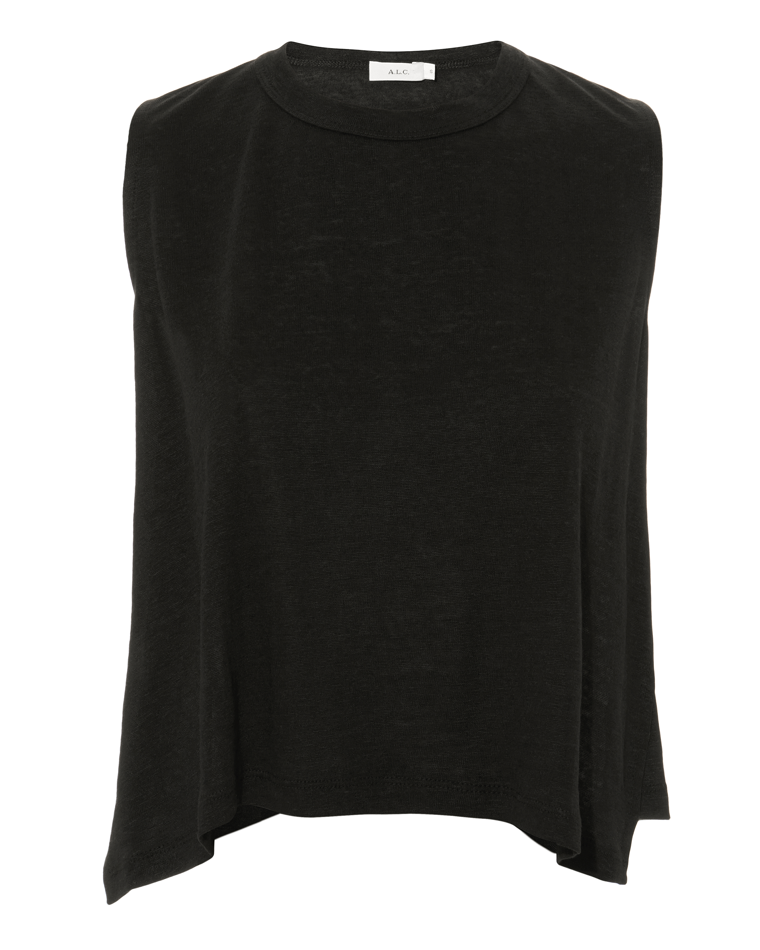 Ines Black Linen Tank by A.L.C.