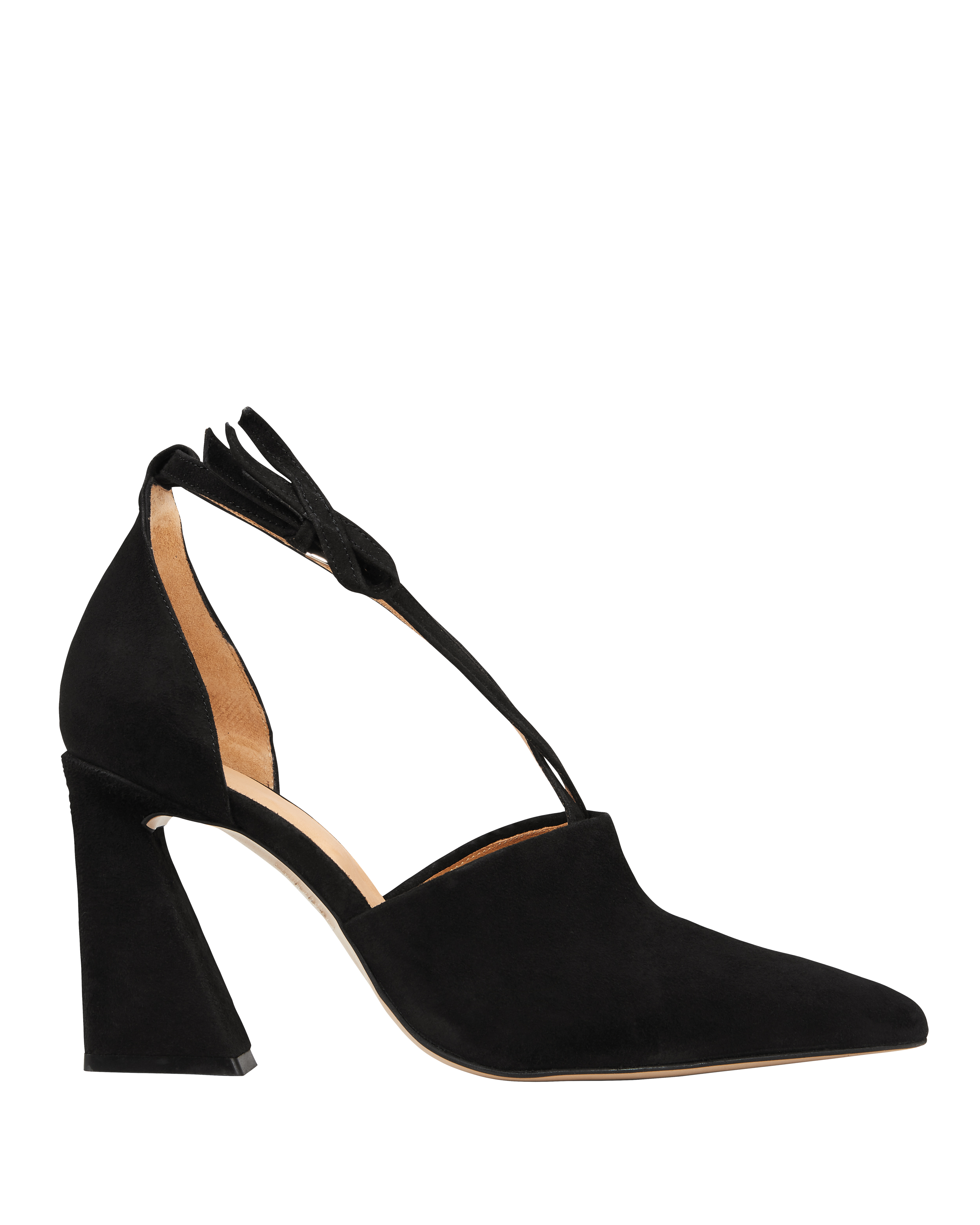 Lina Suede Black Pumps by Ganni