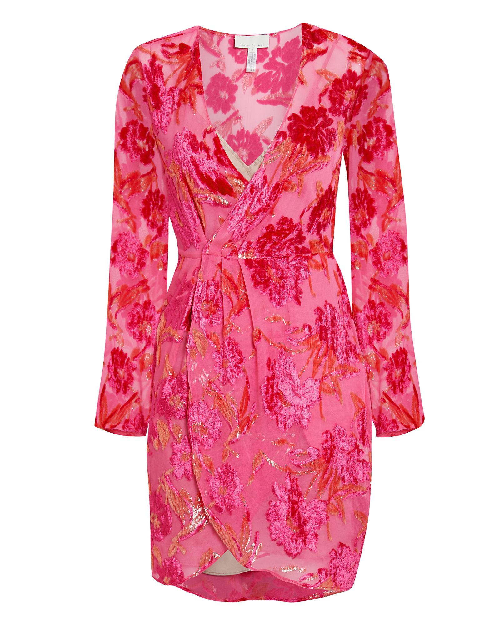 Fleur Du Mal Fil Coupé Wrap Mini Dress