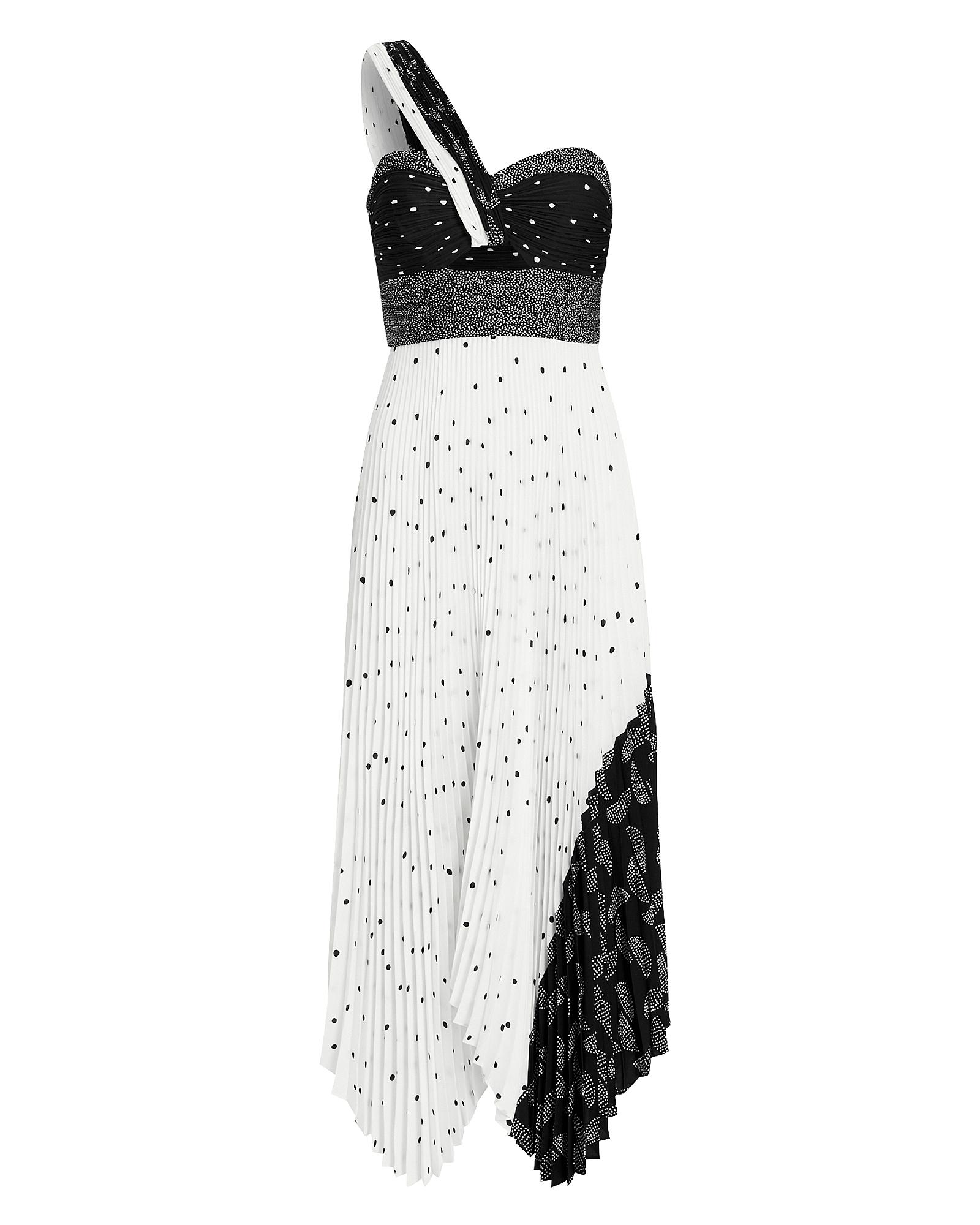 A.l.c Dresses AURORA PATCHWORK ONE SHOULDER DRESS