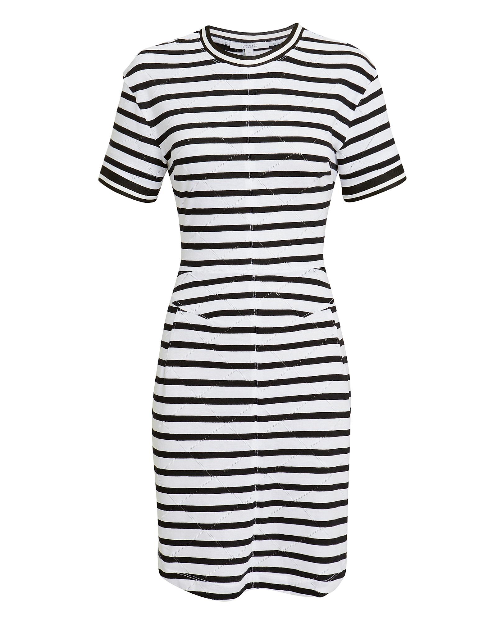 10 CROSBY Striped T-Shirt Dress
