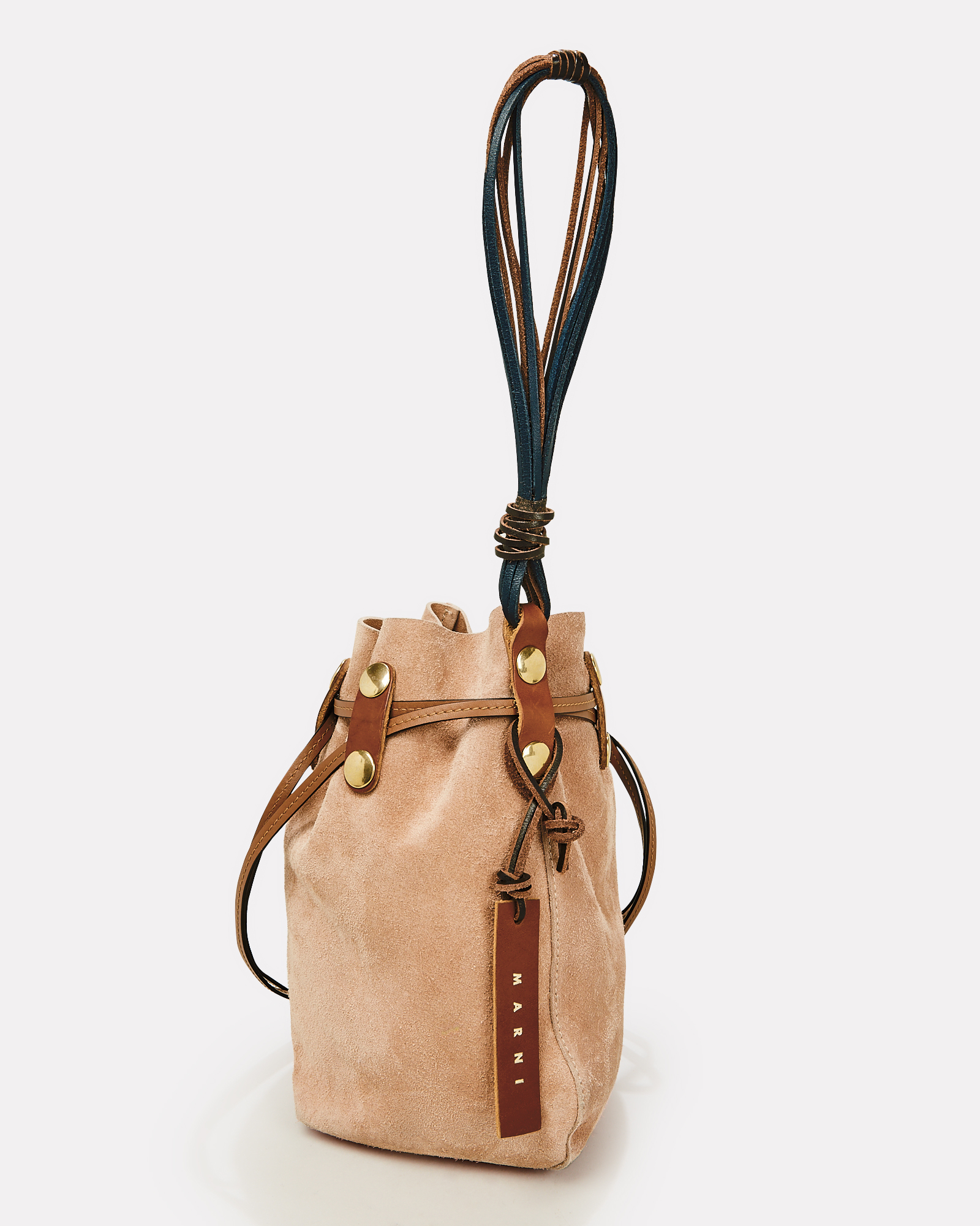 3a2b312b7c ... Bindle Brown Suede Pouch Bag