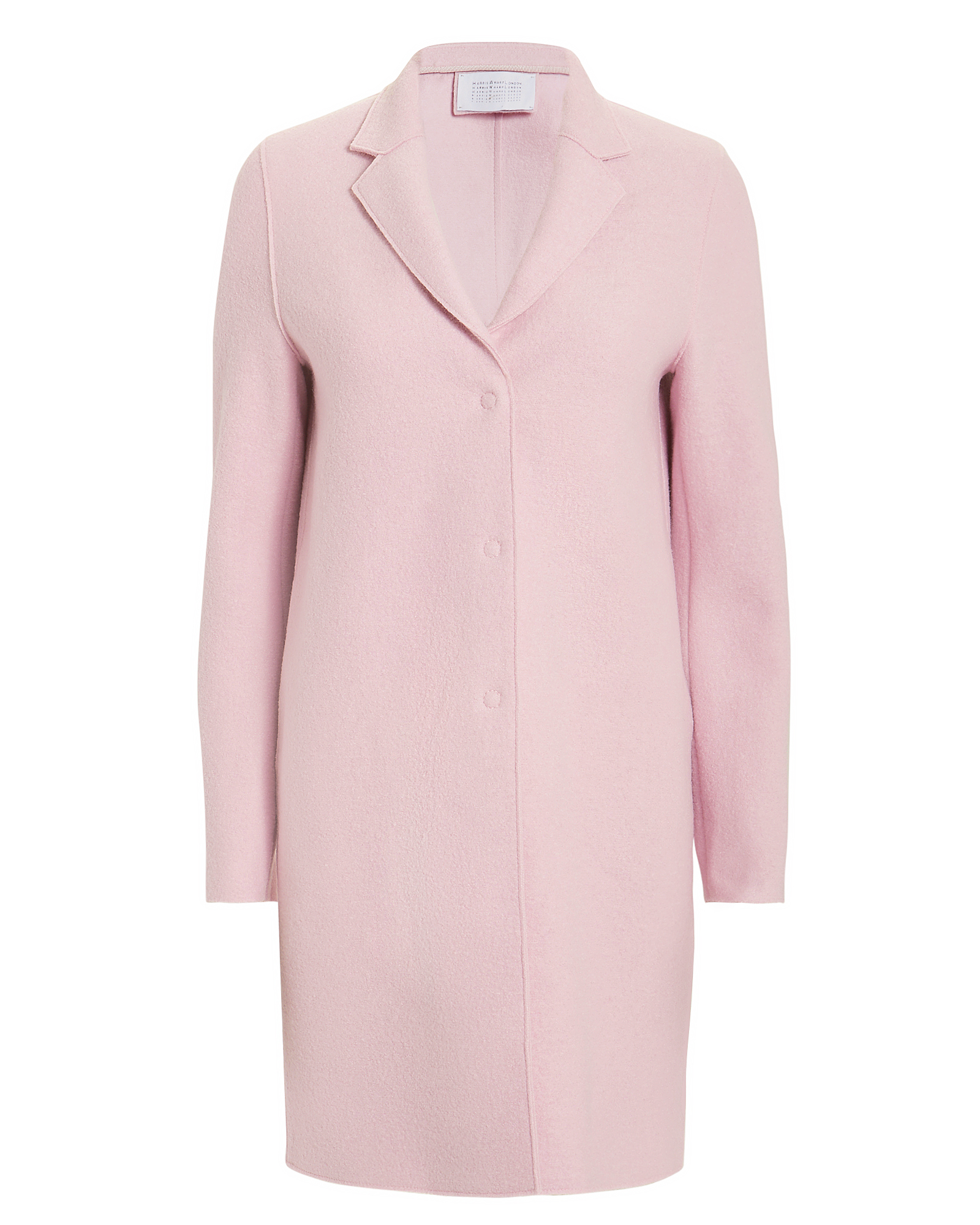 HARRIS WHARF London Blush Cocoon Coat Blush