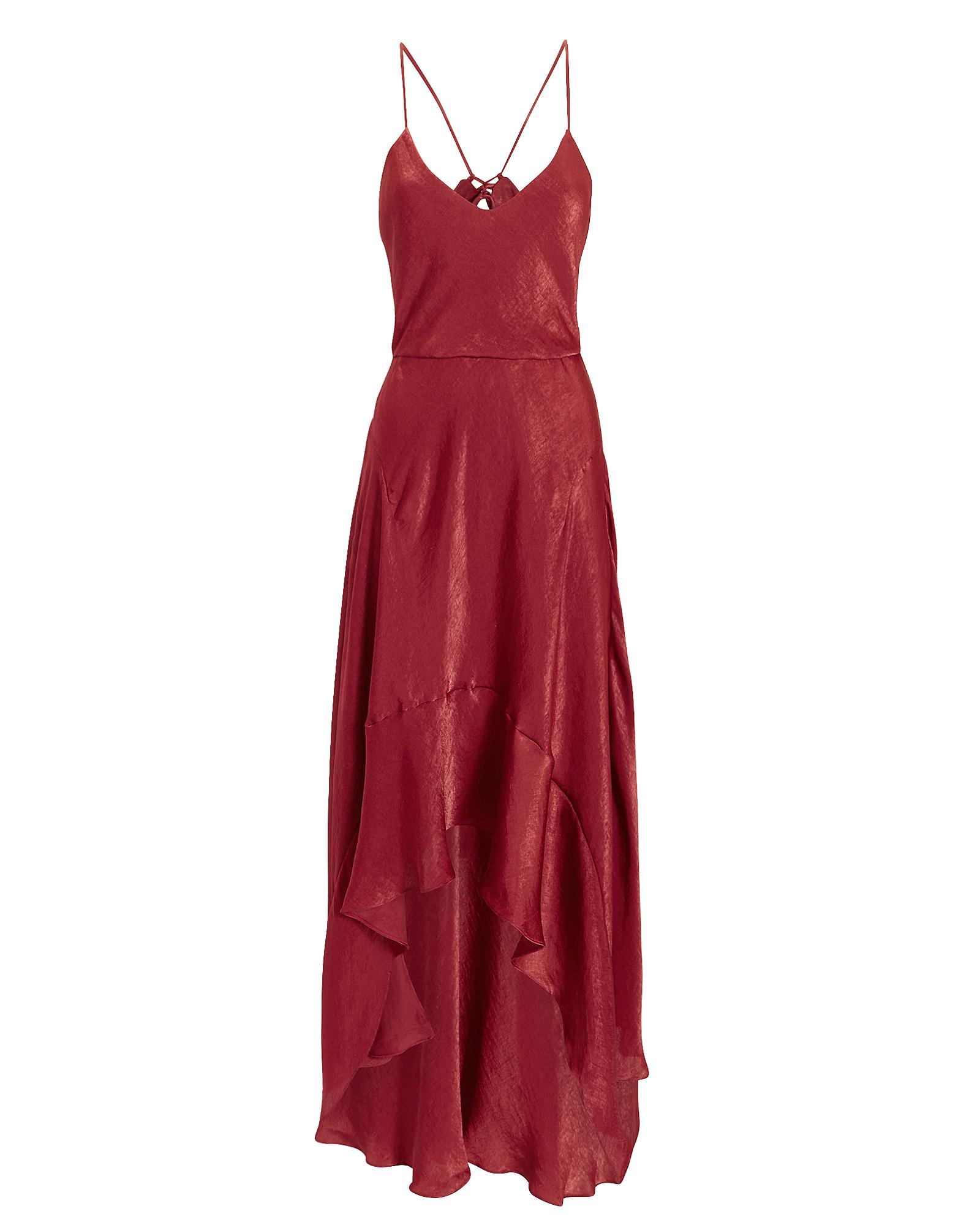 ESTEBAN CORTAZAR Tie Back Slip Dress