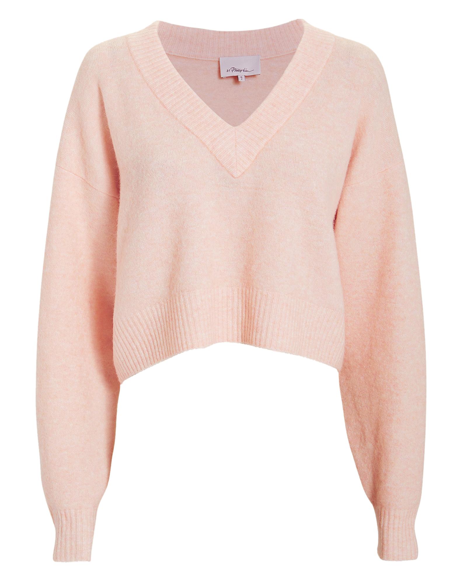 PHILLIP LIM Lofty V-Neck Blush Sweater