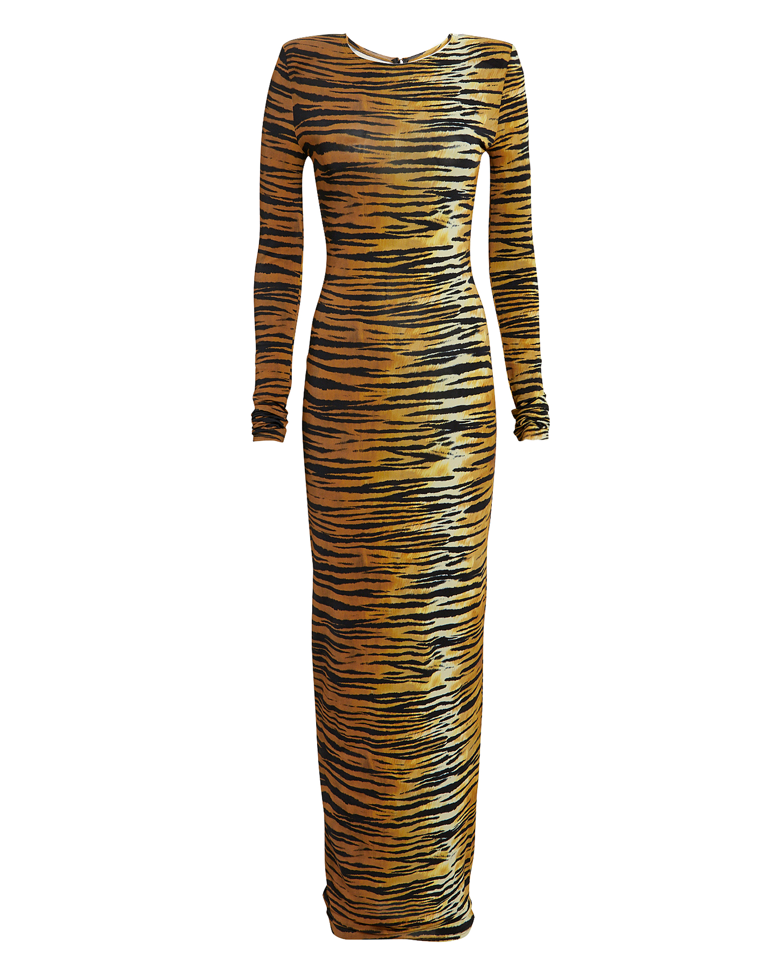 Alexandre Vauthier Tops Tiger Striped Stretch Jersey Gown