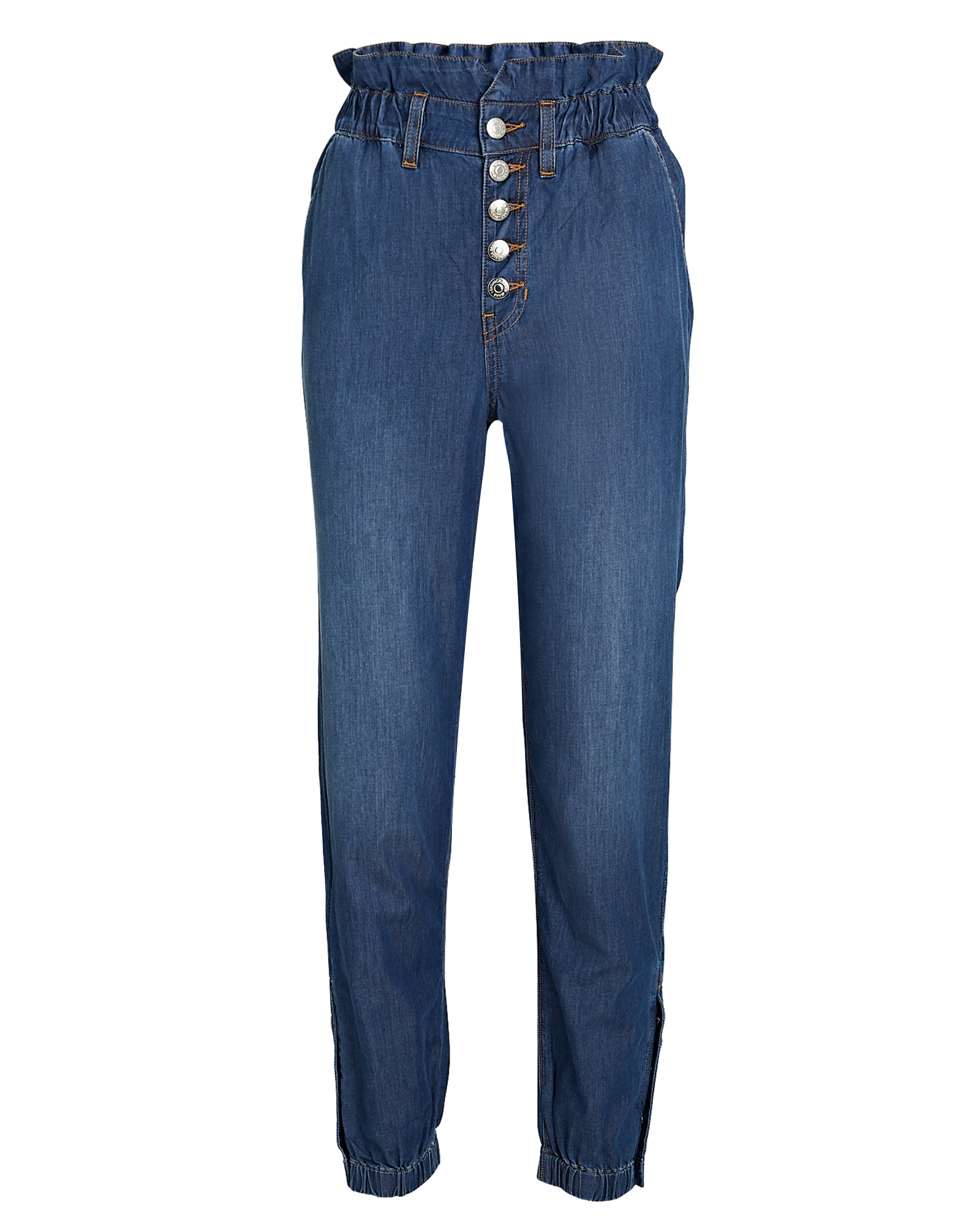 Veronica Beard Cottons Tedi Tapered Paperbag Jeans