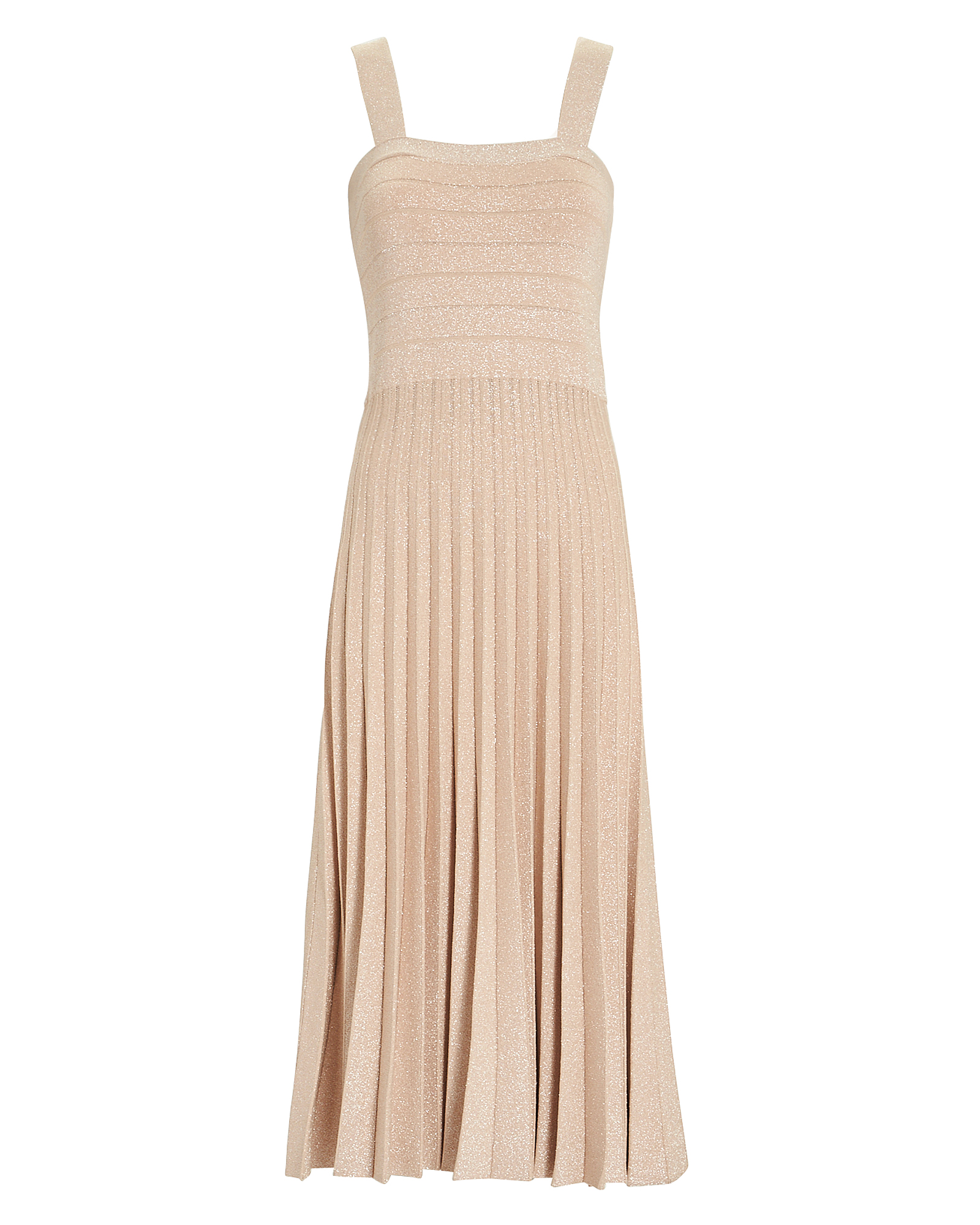 10 CROSBY Pleated Lurex Knit Dress