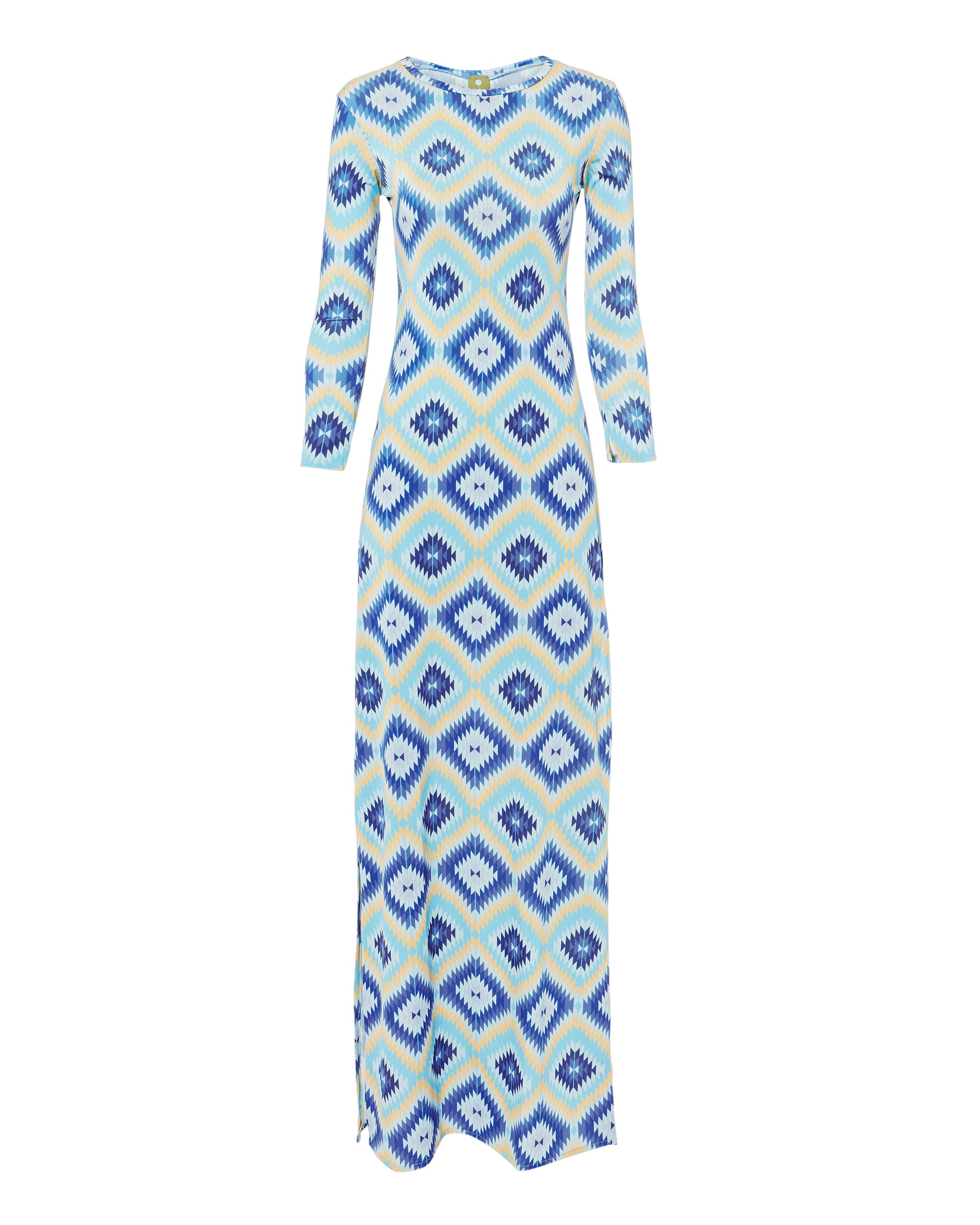 CEST LA VIE Evissa Geo Print Maxi Dress