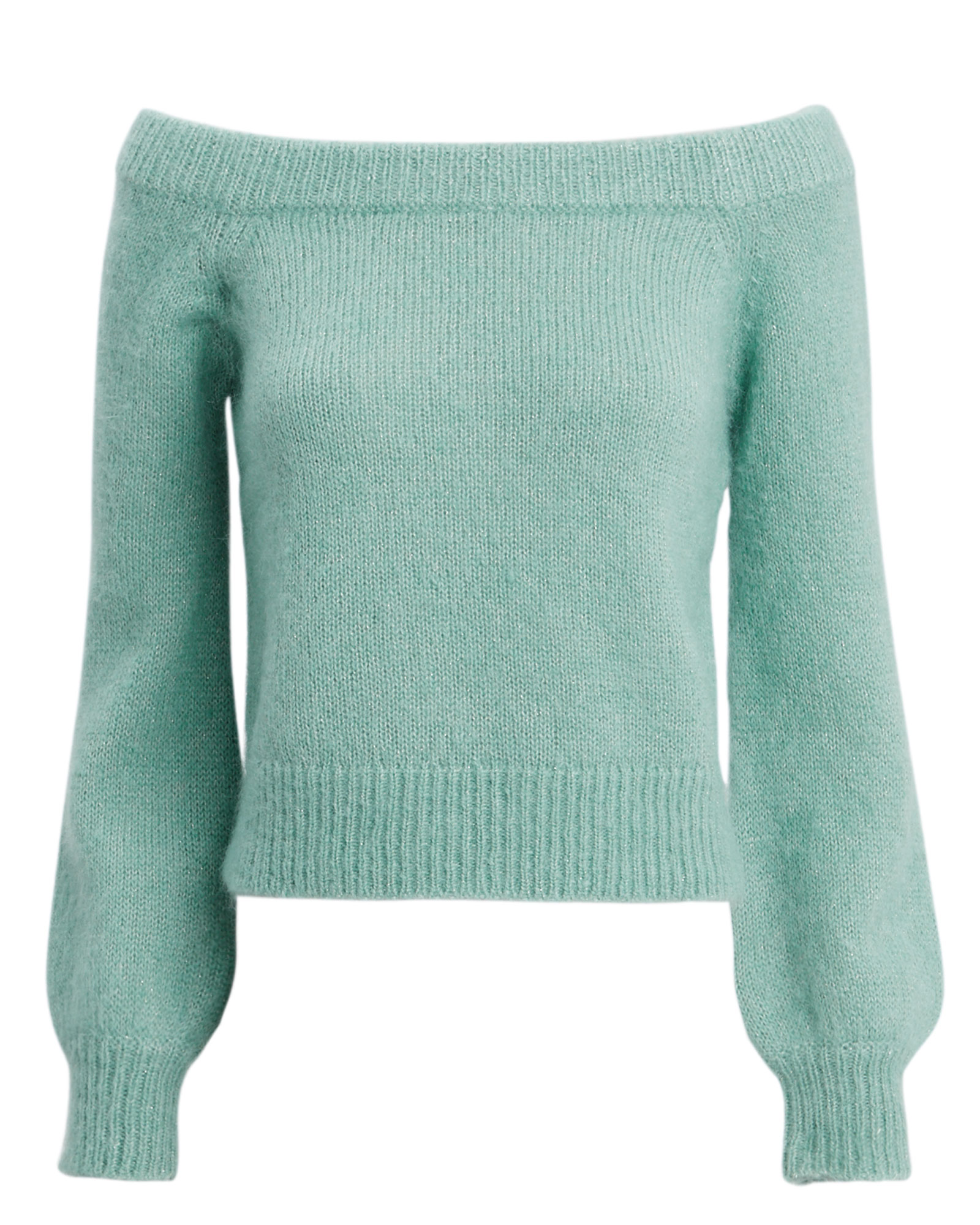EXCLUSIVE FOR INTERMIX Intermix Adeina Off Shouder Sweater Green