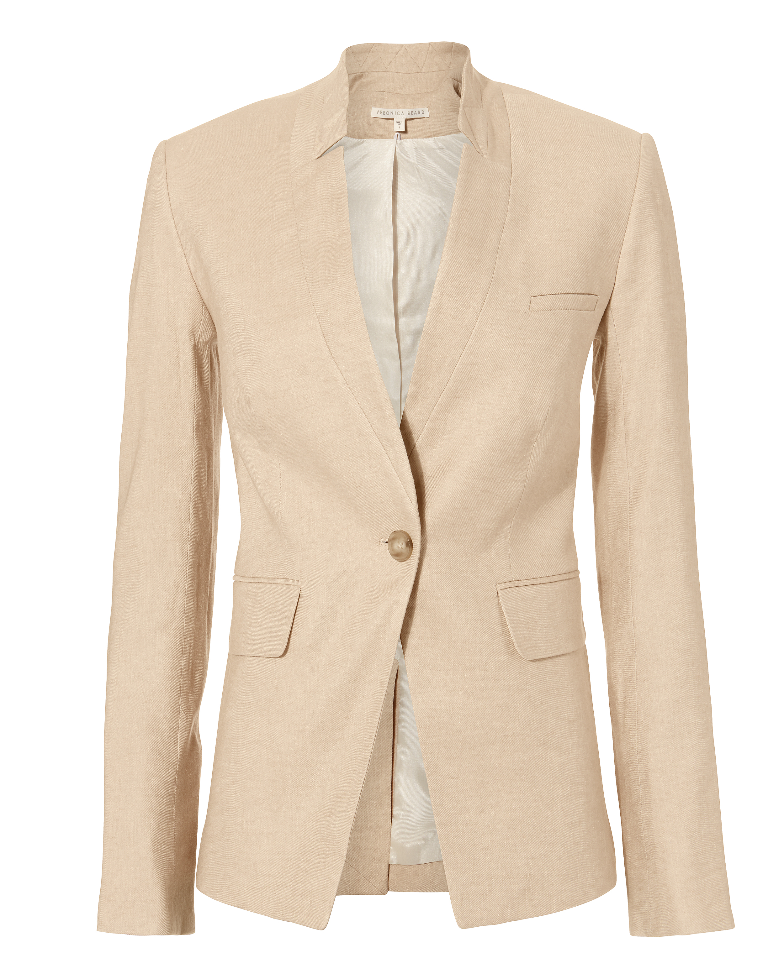 Veronica Beard Anouka Linen-blend Twill Vest In Khaki