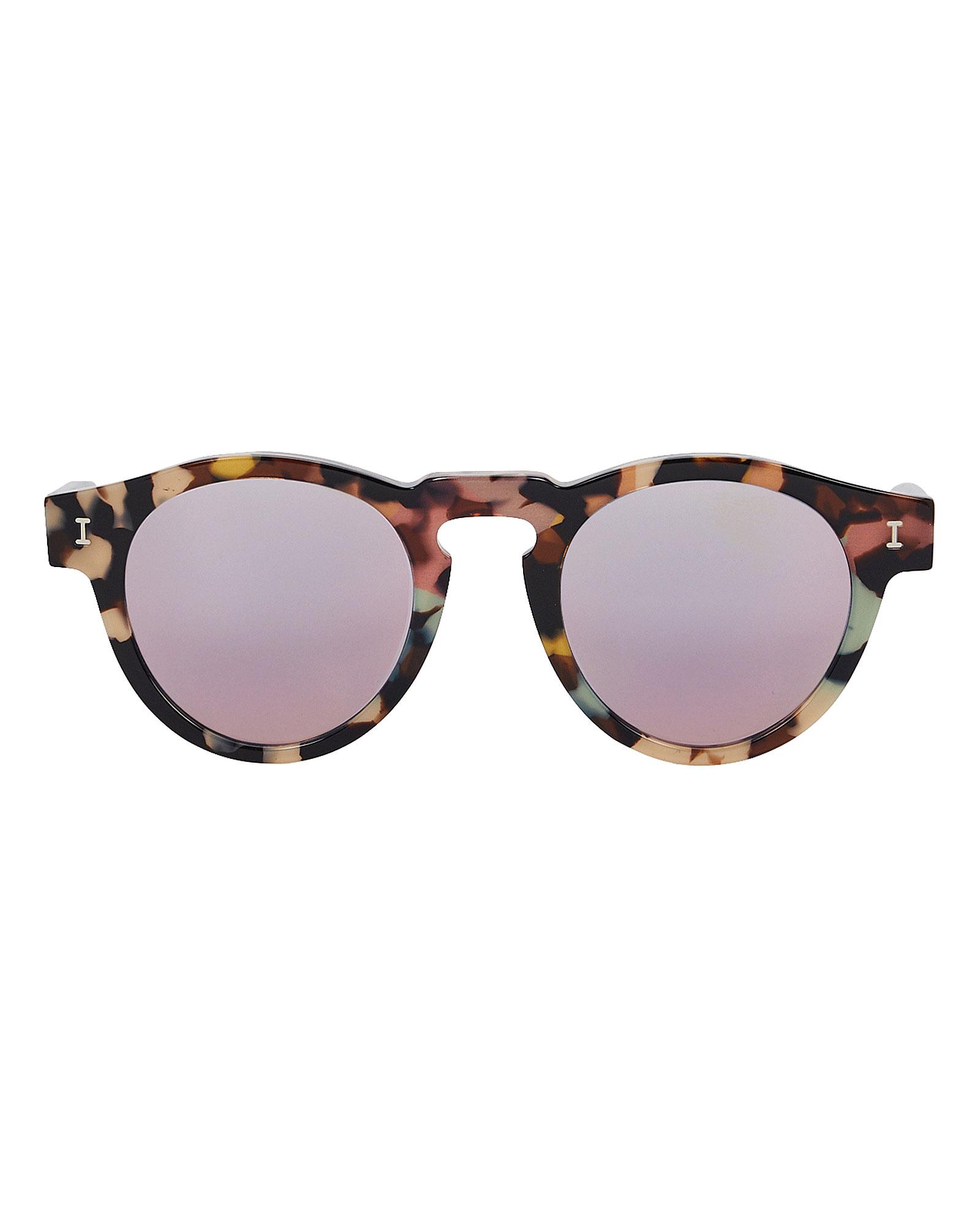 Illesteva Sunglasses ILLESTEVA LEONARD ROUNDED MIRROR SUNGLASSES