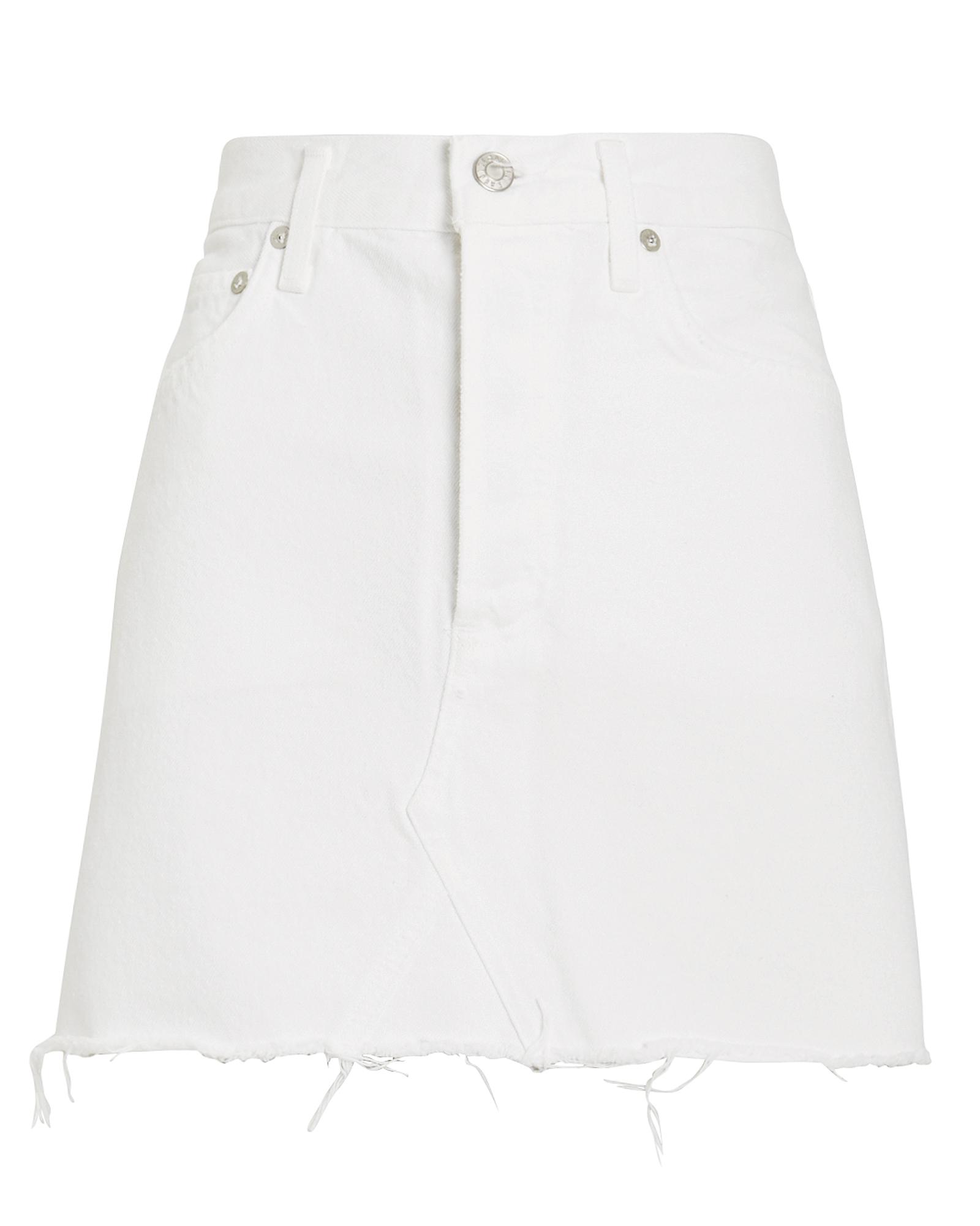 Agolde Skirts AGOLDE QUINN HIGH-RISE SKIRT  WHITE 28