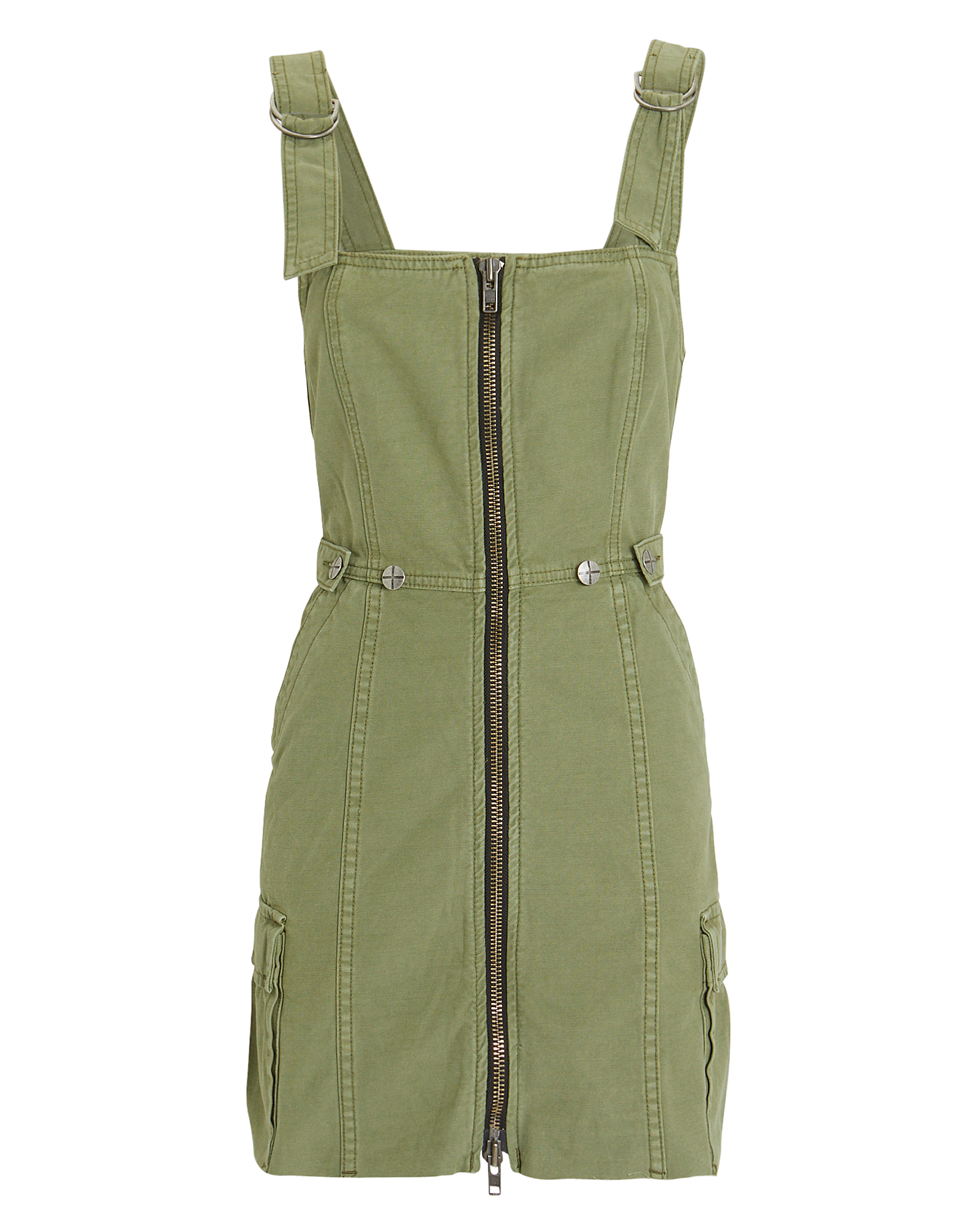 Ksubi Dresses KSUBI CRYPT PINAFORE DRESS  OLIVE GREEN P
