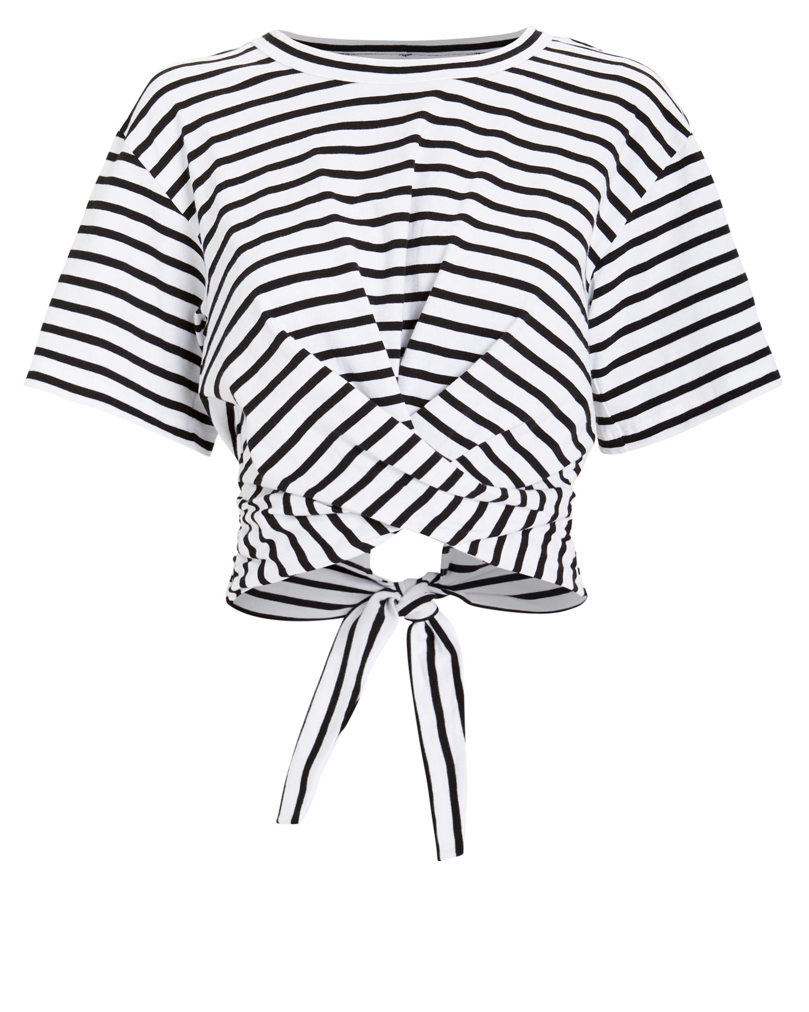 A.l.c T-shirts A.L.C. JULES T-SHIRT  WHITE/BLACK STRIPES S